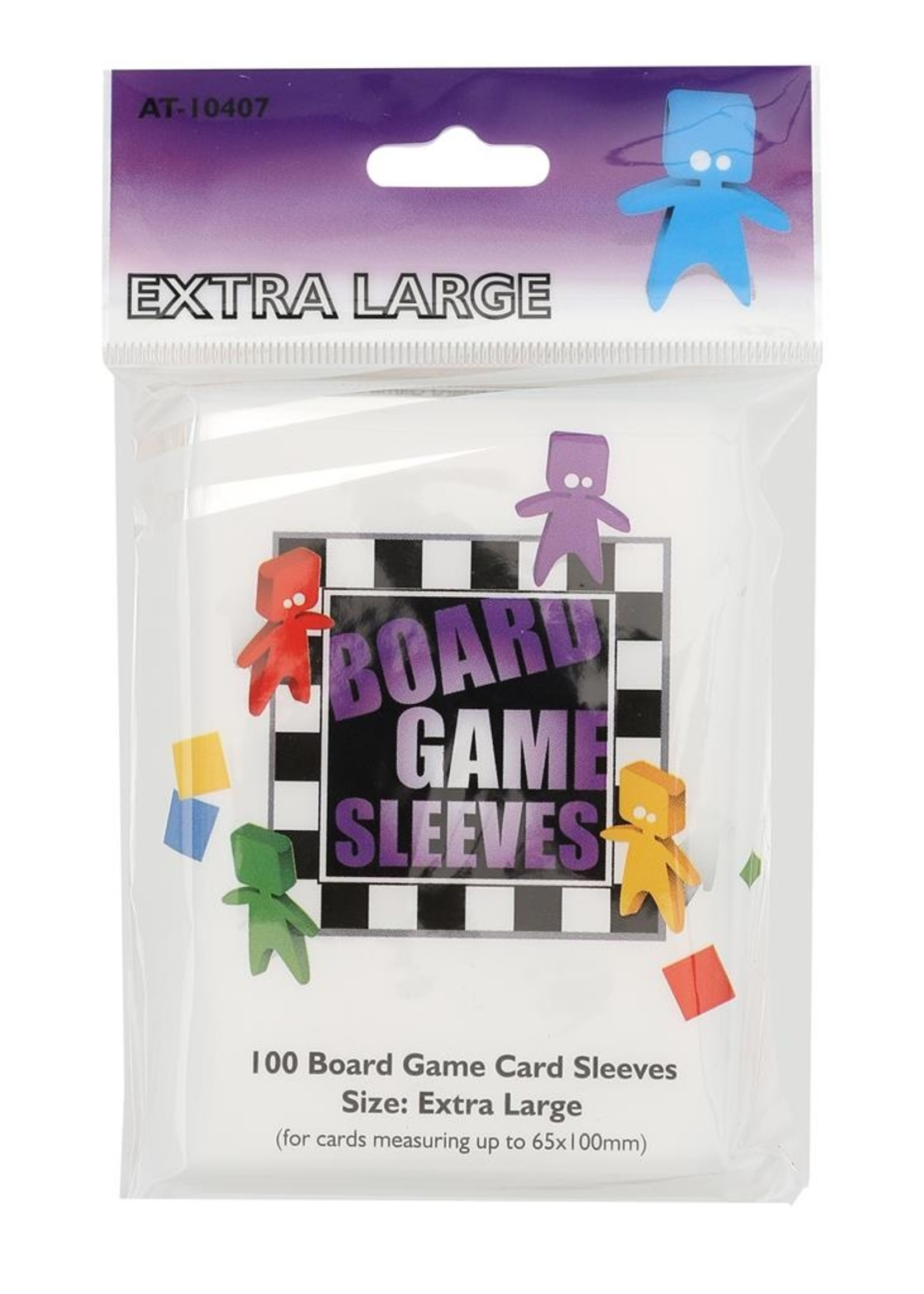 Sleeves Board Game - Extra Large - 65X100Mm - 100Pcs
