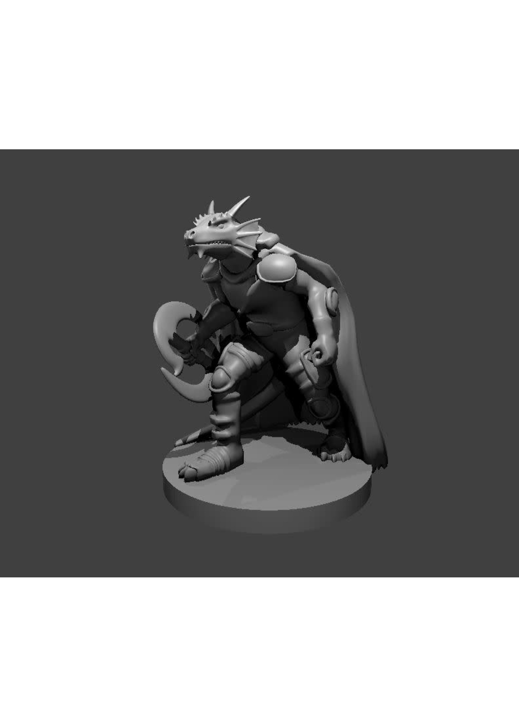 Dragonborn Chakram Fighter (Patreon Mz4250)