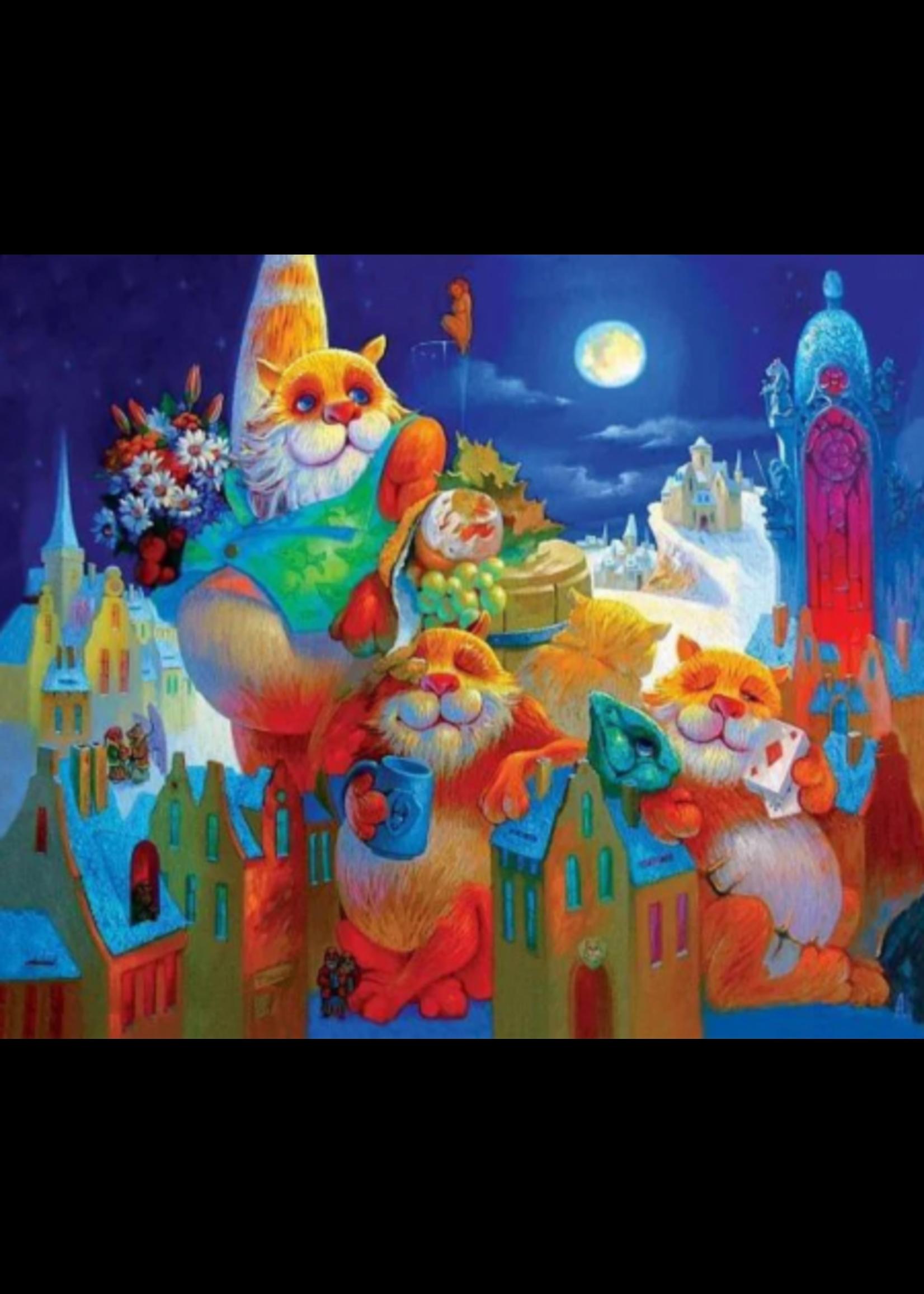 DaVICI Puzzel™ - Het Vollemaan Feest (195) - Houten Puzzel