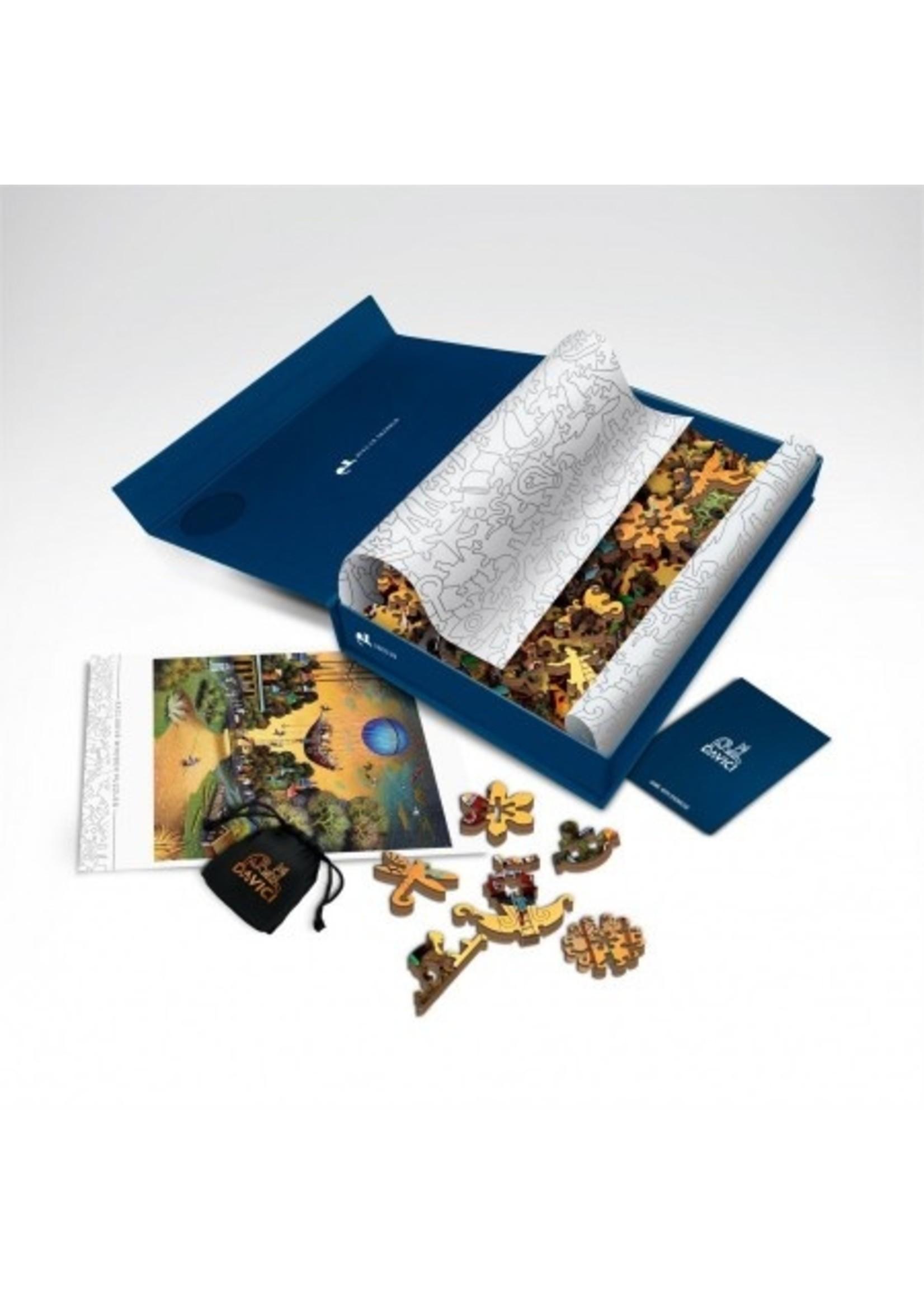 DaVICI Puzzel™ - De Vliegende Hollander (130) - Houten Puzzel