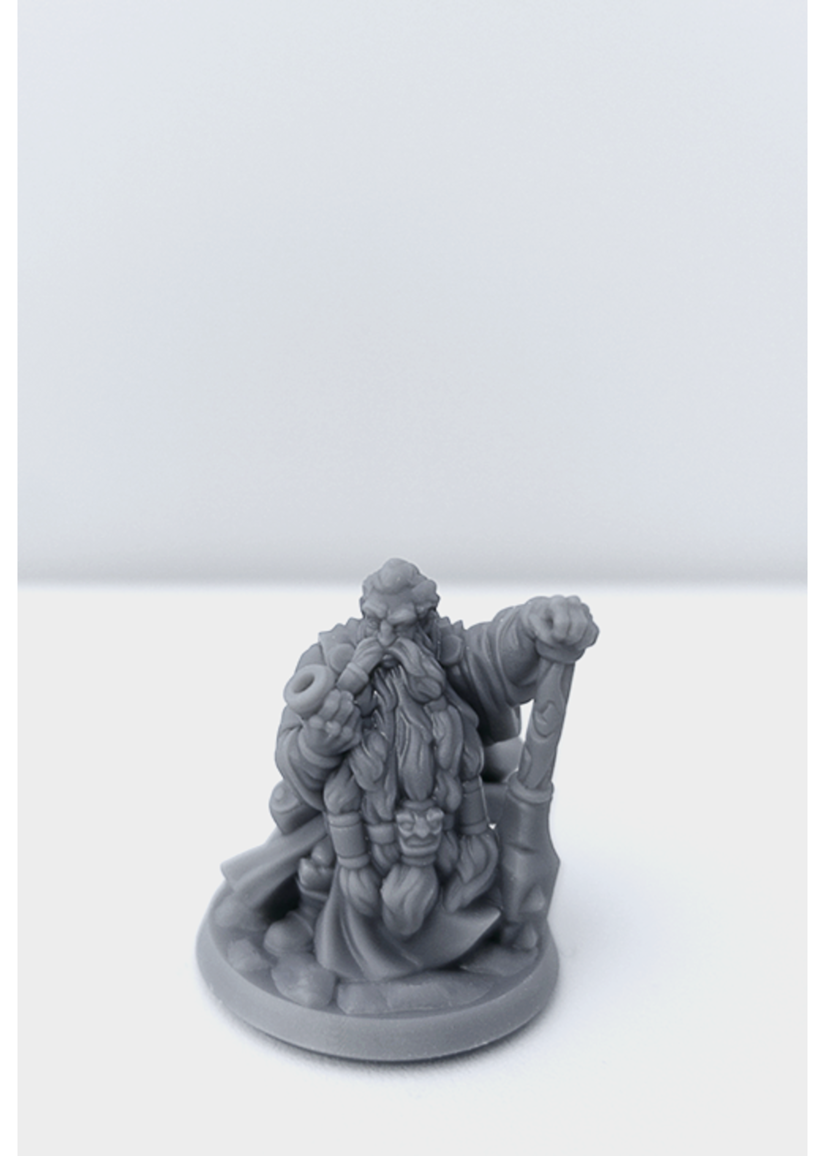3D Printed Miniature - Dwarf Male 02 - Dungeons & Dragons - Hero of the Realm KS