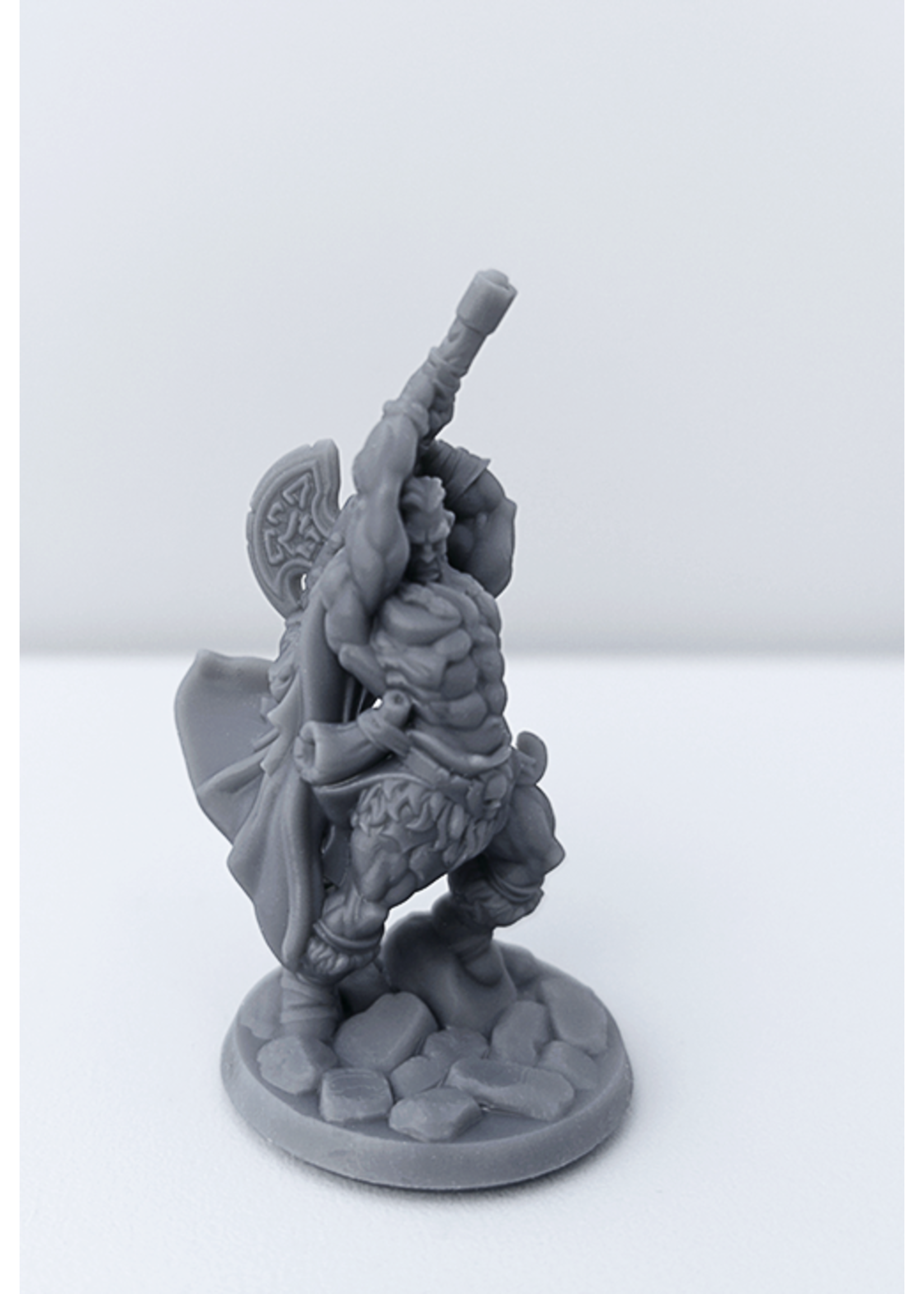 3D Printed Miniature - Barbarian Male 02 - Dungeons & Dragons - Hero of the Realm KS