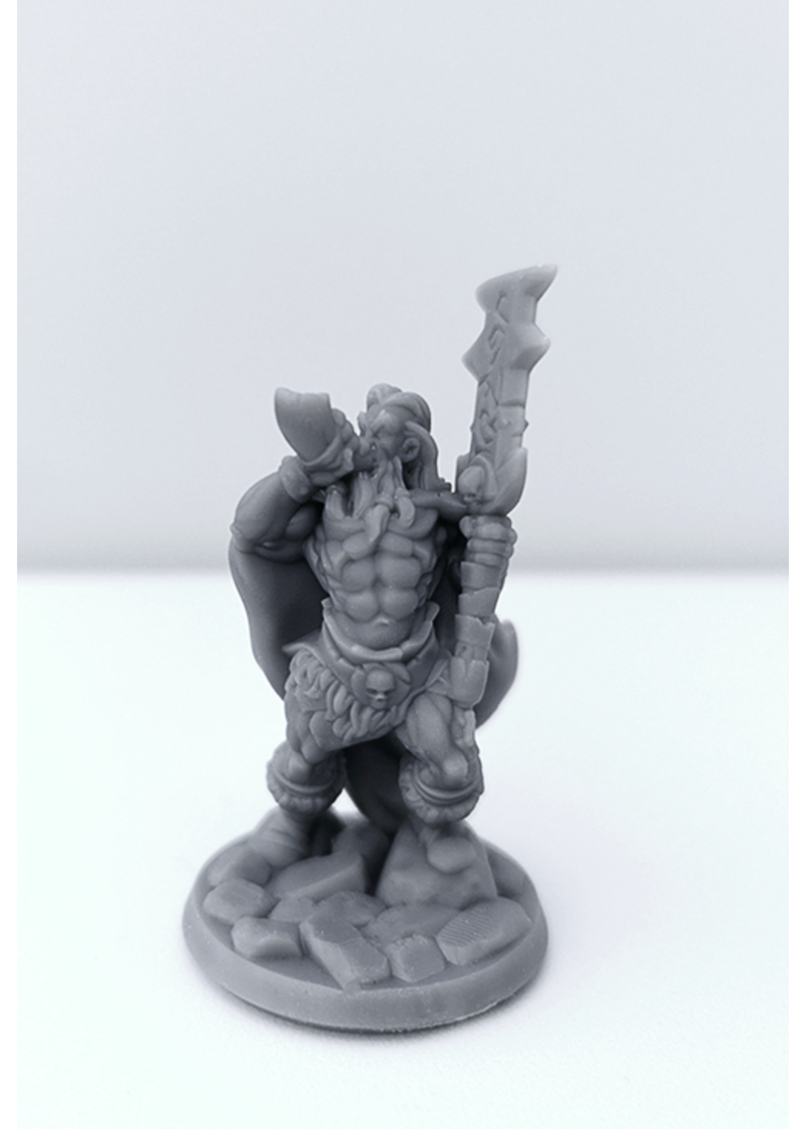 3D Printed Miniature - Barbarian Male 03 - Dungeons & Dragons - Hero of the Realm KS