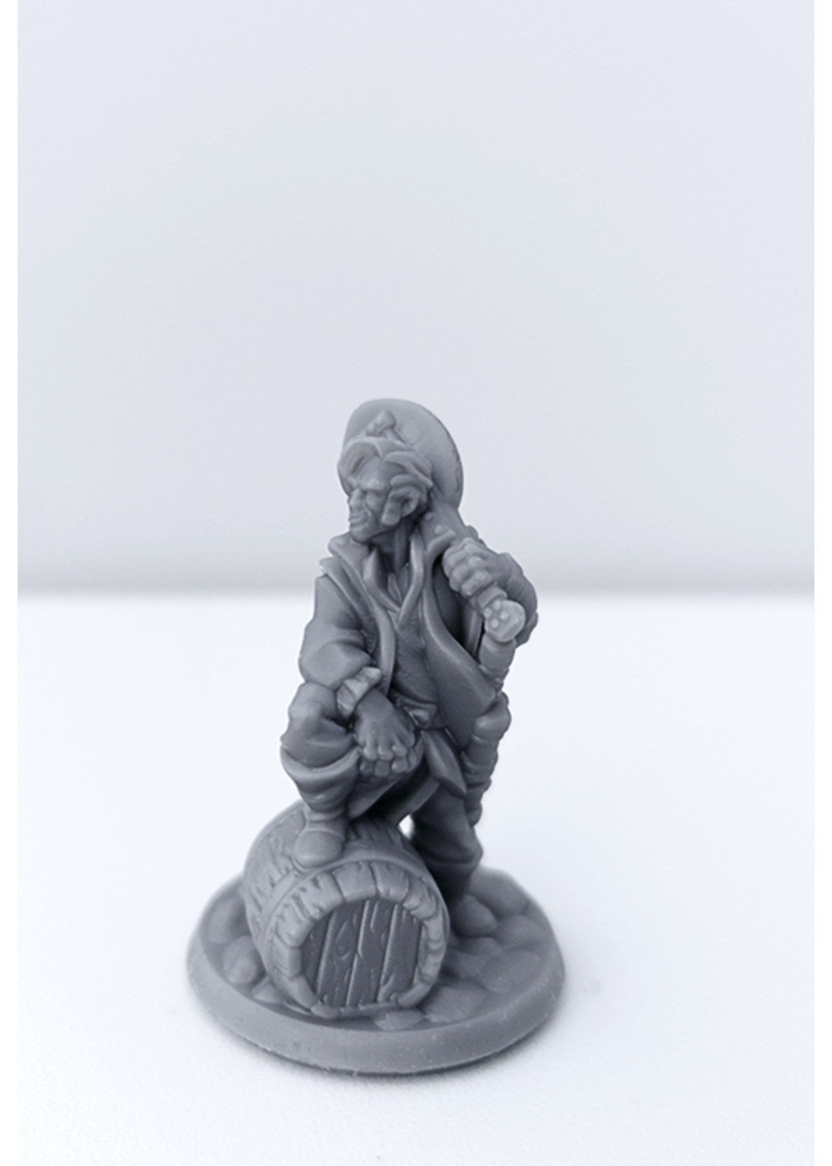 3D Printed Miniature - Bard Male 01 - Dungeons & Dragons - Hero of the Realm KS