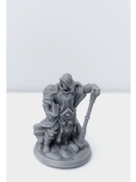 3D Printed Miniature - Cleric Male 01 - Dungeons & Dragons - Hero of the Realm KS