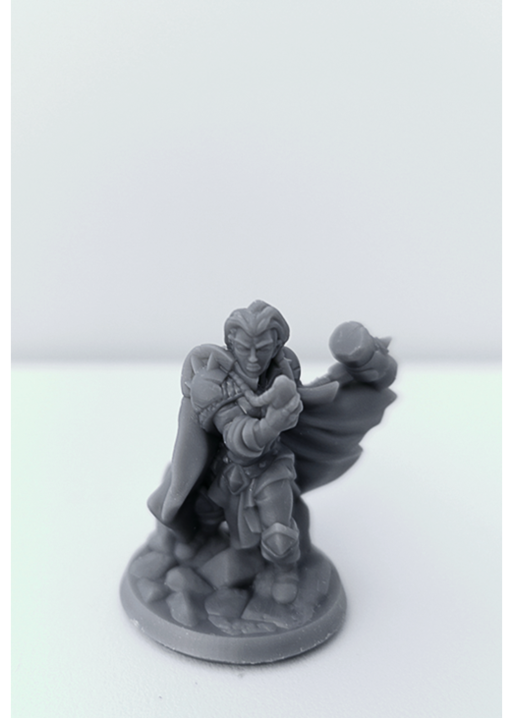 3D Printed Miniature - Cleric Female 01 - Dungeons & Dragons - Hero of the Realm KS