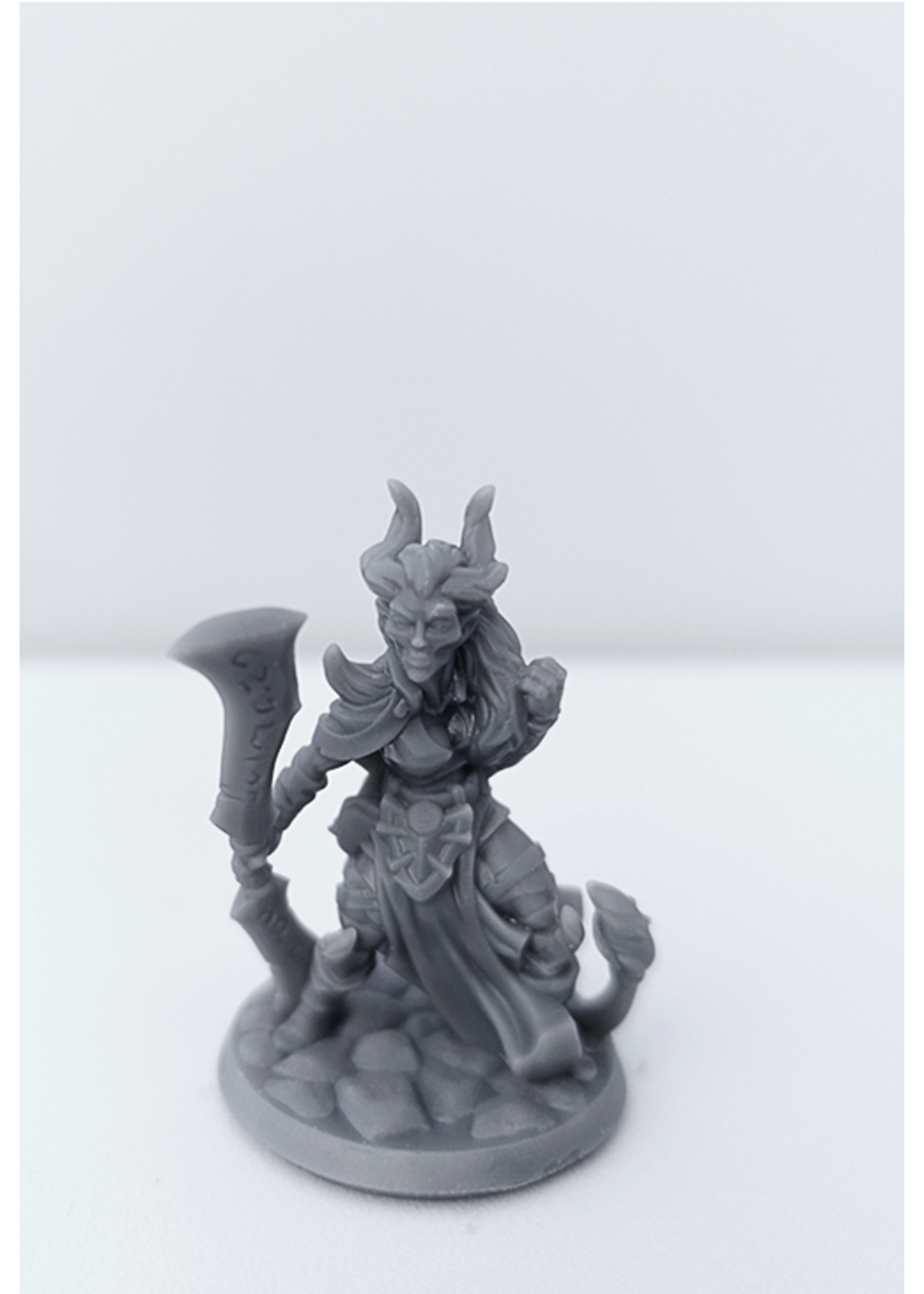 3D Printed Miniature - Demonkin Female 01 - Dungeons & Dragons - Hero of the Realm KS