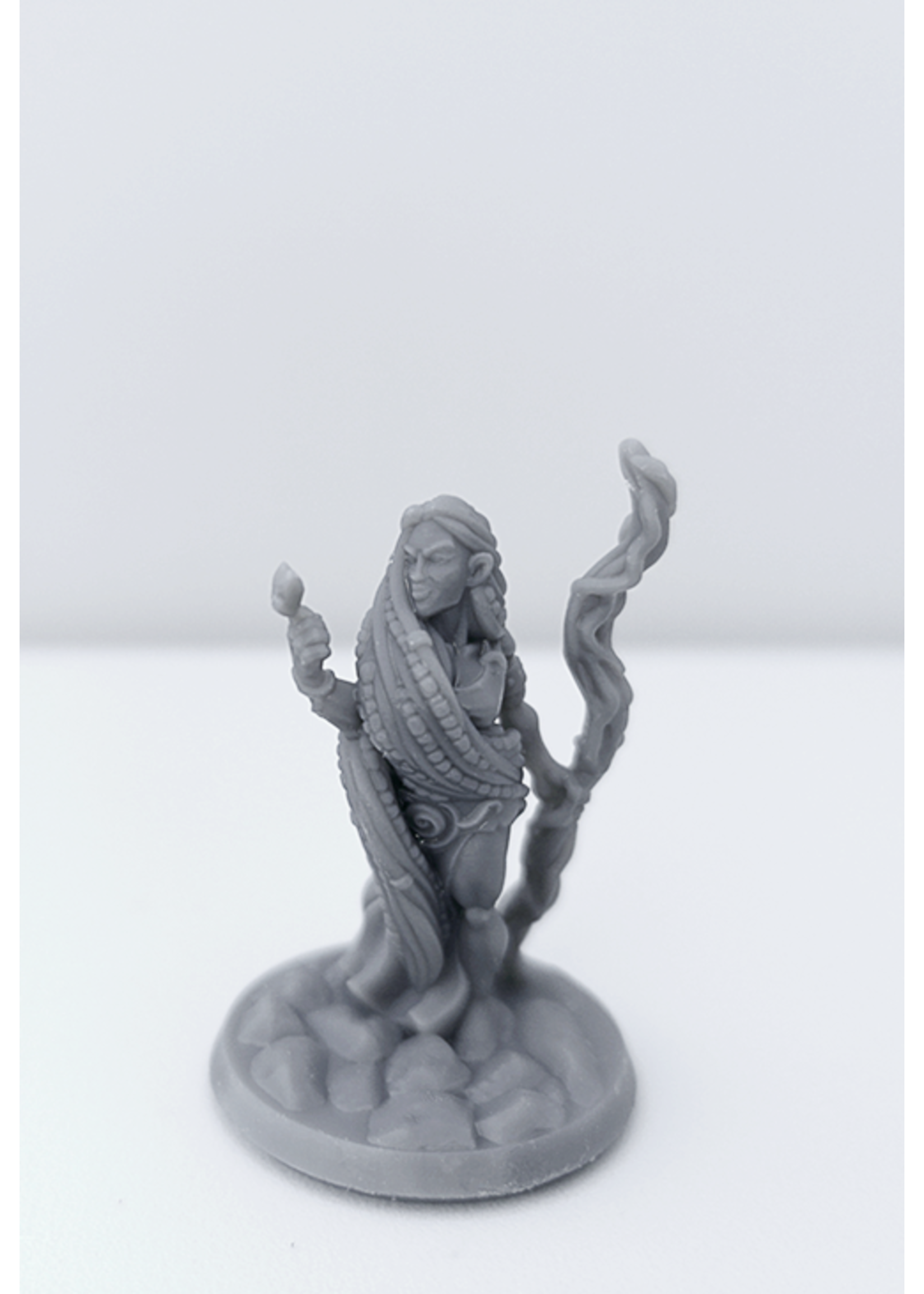 3D Printed Miniature - Druid Female 01 - Dungeons & Dragons - Hero of the Realm KS