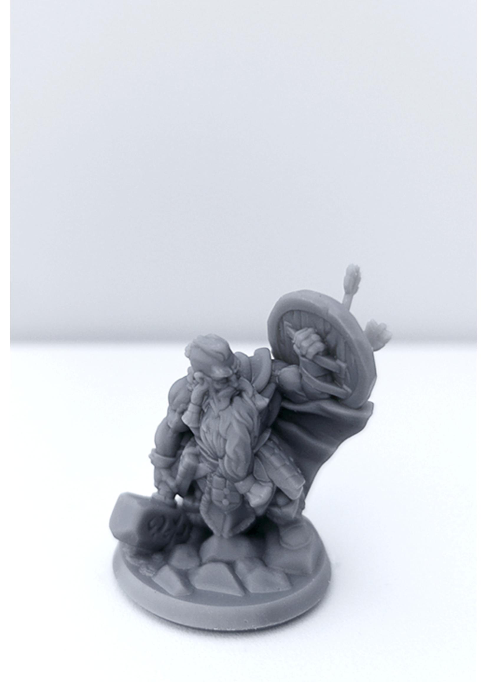 3D Printed Miniature - Dwarf Male 01 - Dungeons & Dragons - Hero of the Realm KS