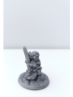 3D Printed Miniature - Halfling Female 01 - Dungeons & Dragons - Hero of the Realm KS
