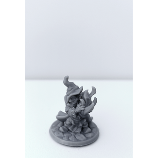 3D Printed Miniature - Gnome Warlock Male - Dungeons & Dragons - Hero of the Realm KS