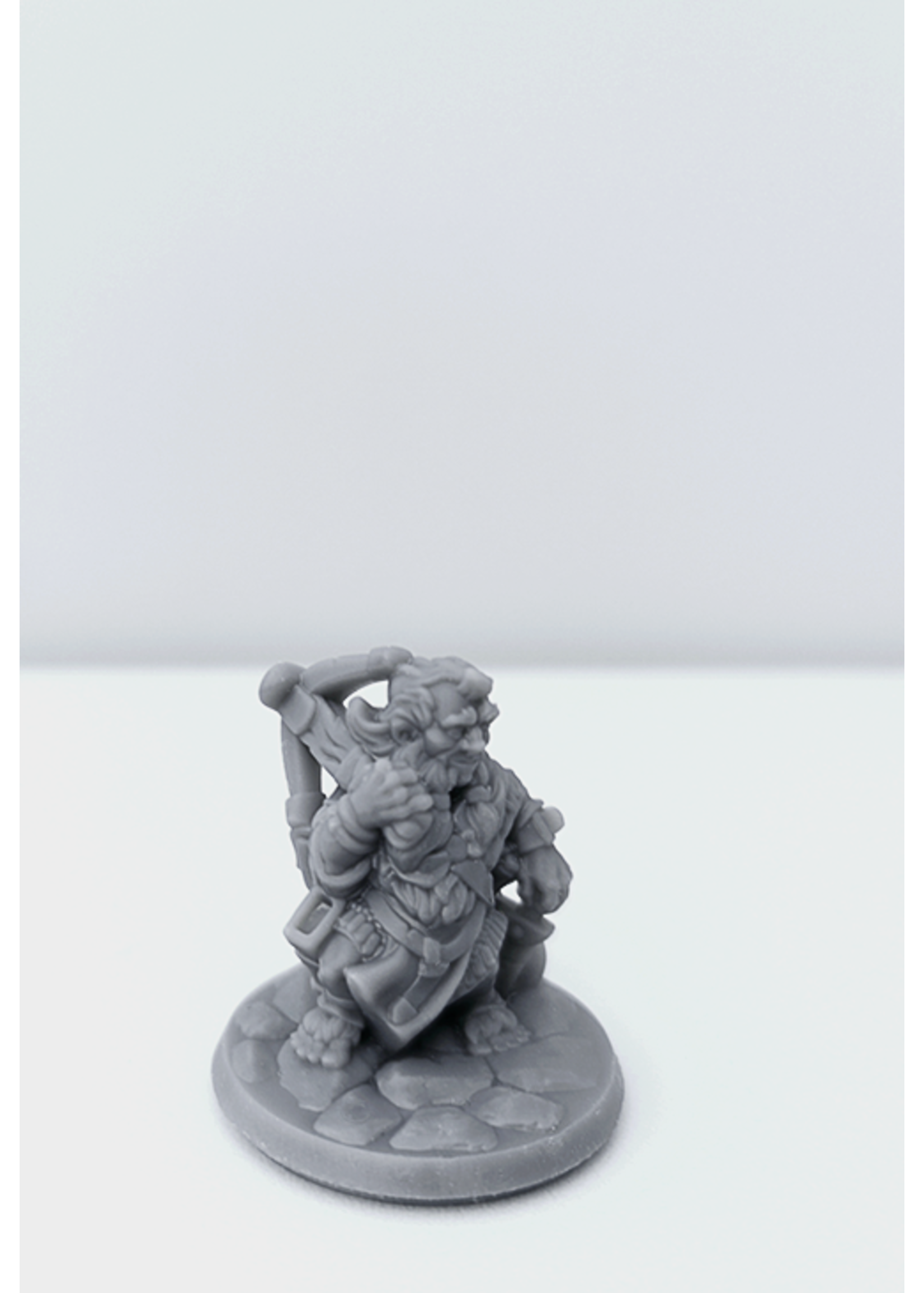 3D Printed Miniature - Halfling Male 01 - Dungeons & Dragons - Hero of the Realm KS