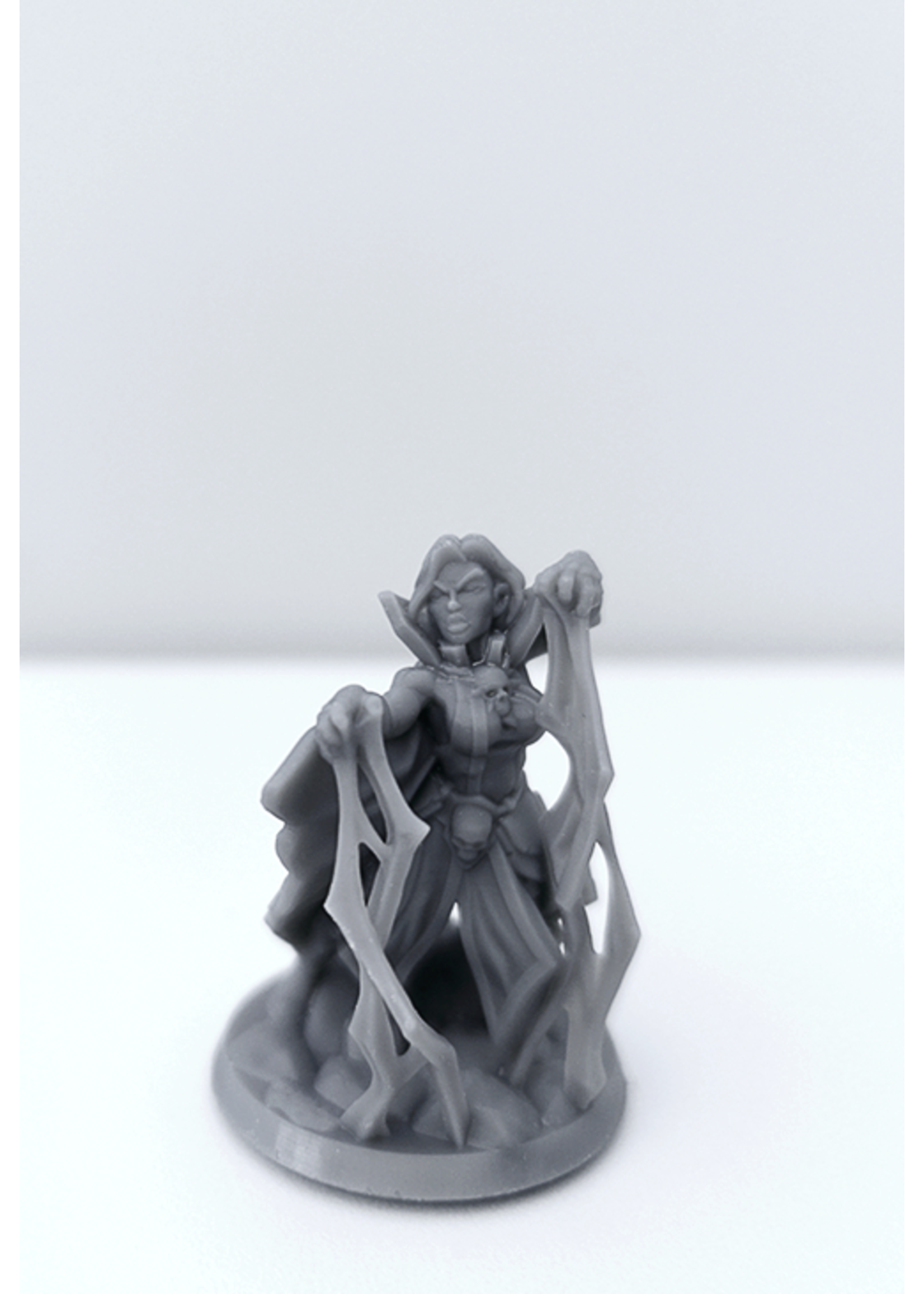 3D Printed Miniature - Necromancer Female 01 - Dungeons & Dragons - Hero of the Realm KS