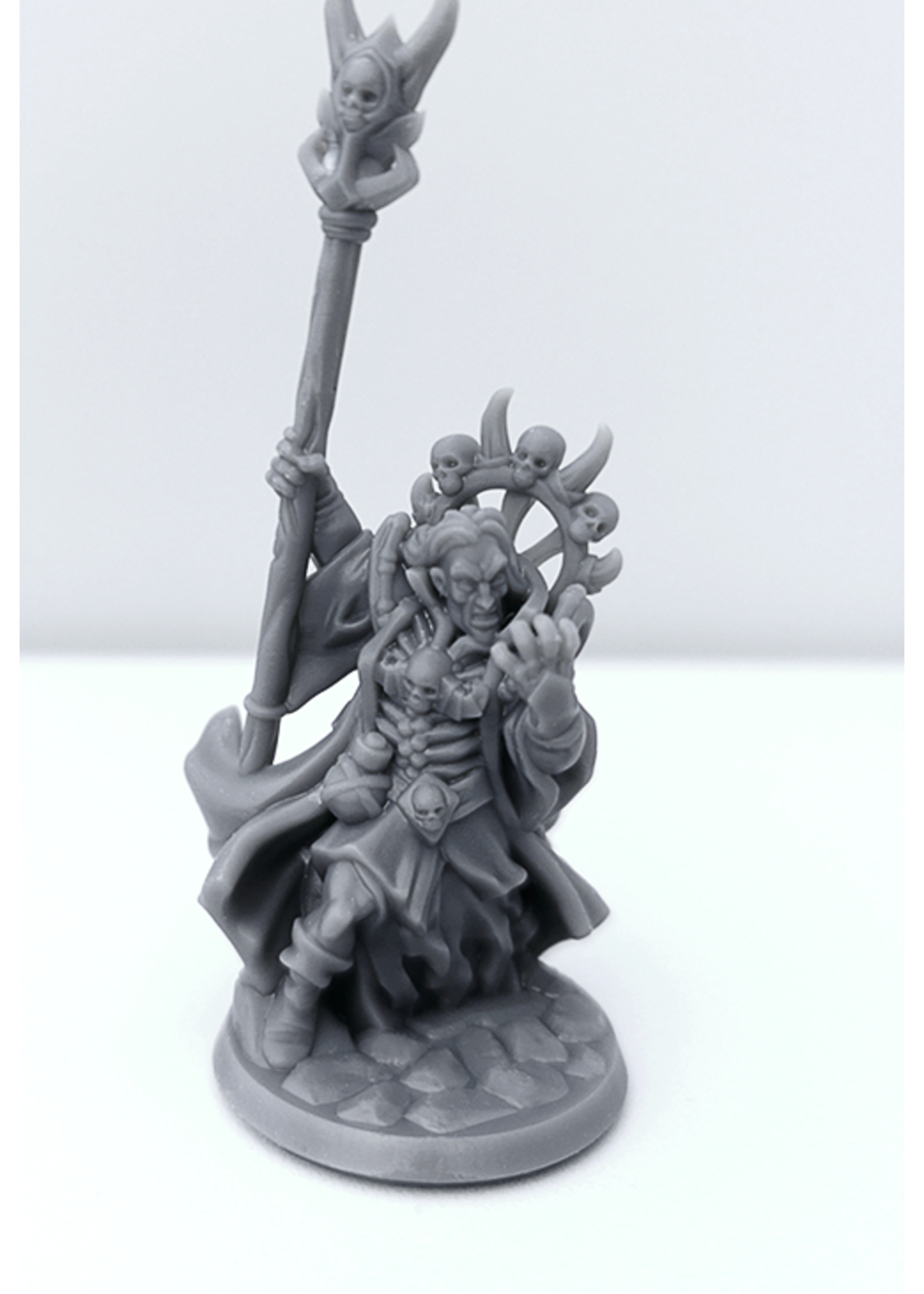 3D Printed Miniature - Necromancer Male 01 - Dungeons & Dragons - Hero of the Realm KS
