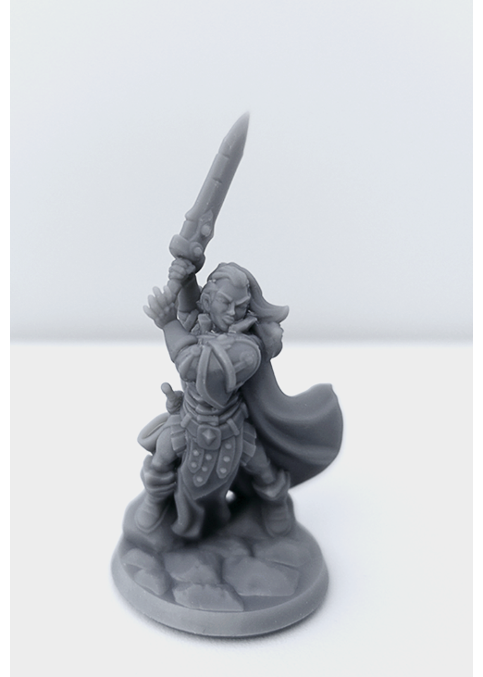 3D Printed Miniature - Paladin Female 01 - Dungeons & Dragons - Hero of the Realm KS
