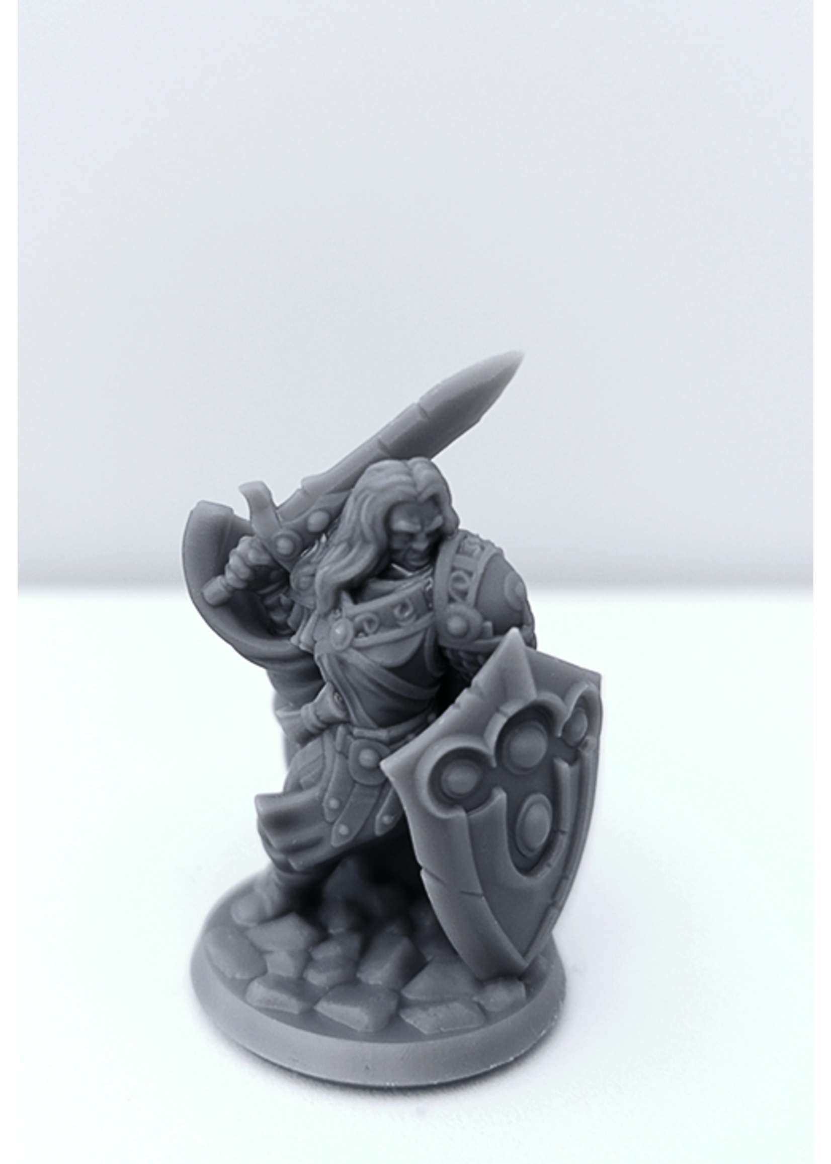 3D Printed Miniature - Paladin Male 01 - Dungeons & Dragons - Hero of the Realm KS