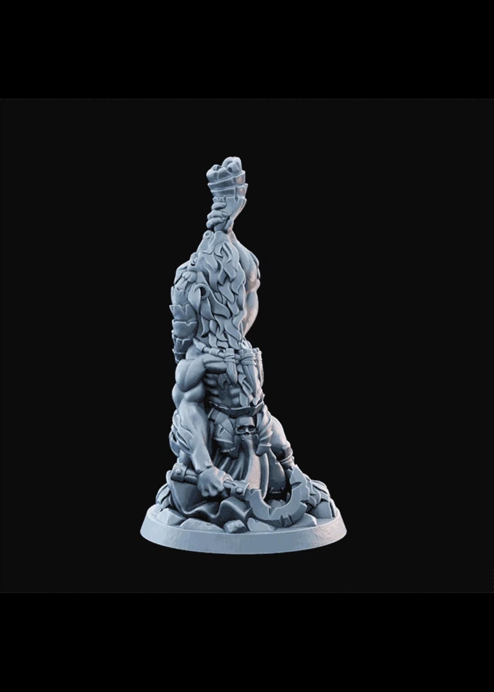 3D Printed Miniature - Goatman03  - Dungeons & Dragons - Desolate Plains KS