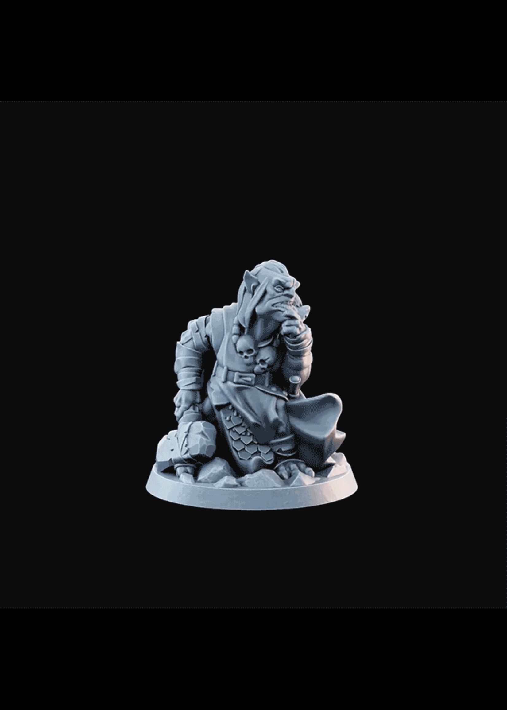 3D Printed Miniature - Goblin04  - Dungeons & Dragons - Desolate Plains KS