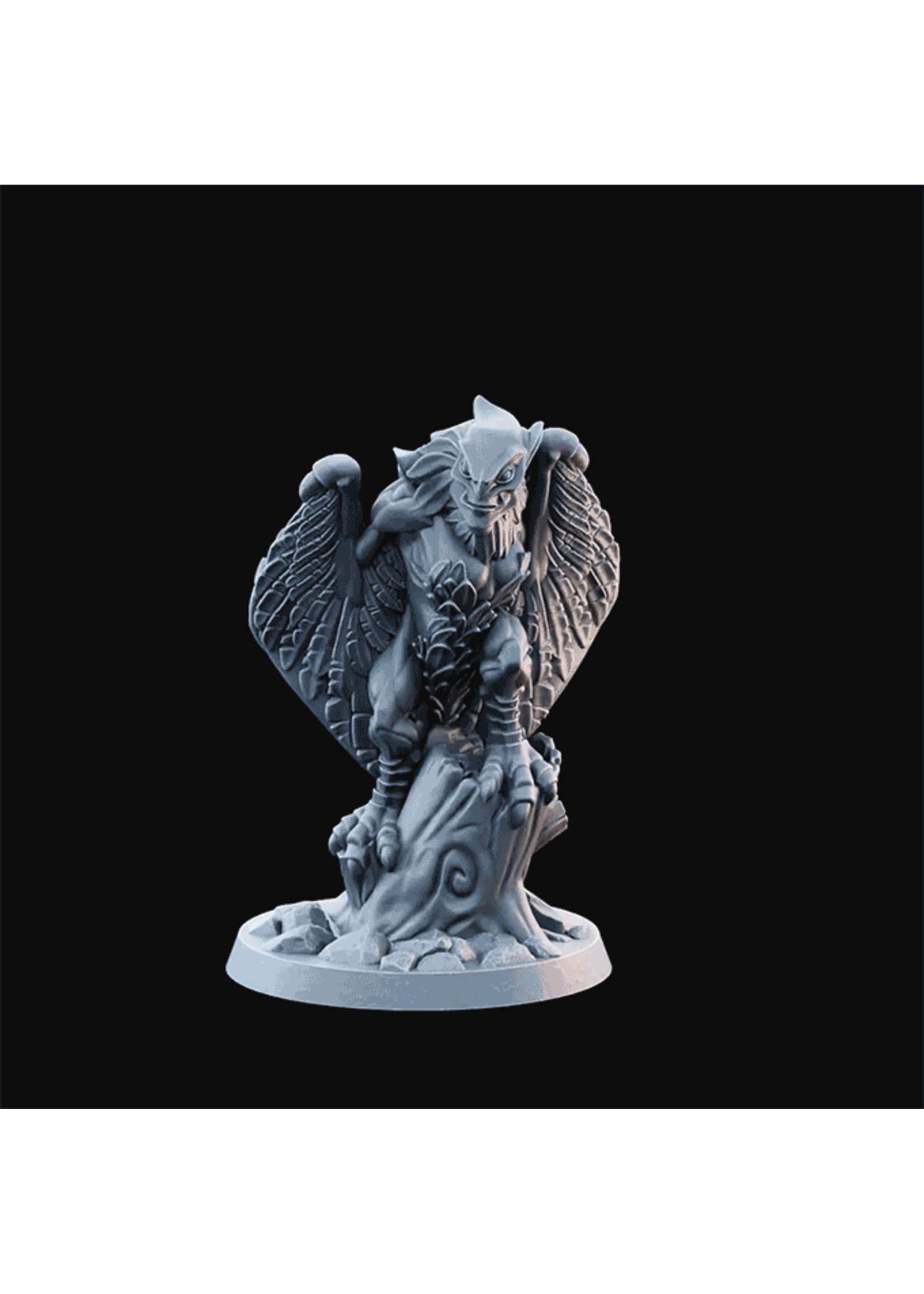 3D Printed Miniature - Harpy03  - Dungeons & Dragons - Desolate Plains KS