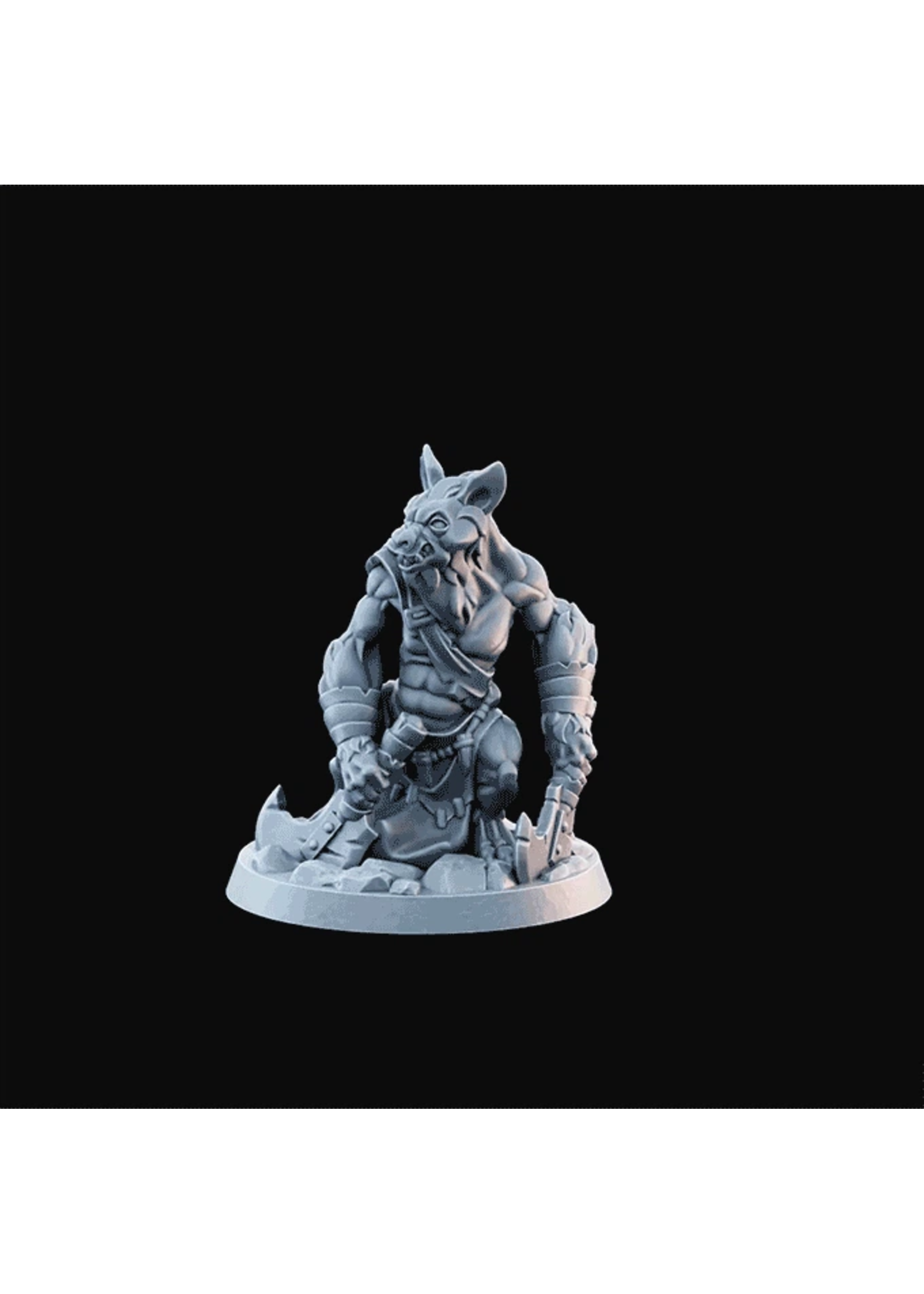 3D Printed Miniature - Hyenaman03  - Dungeons & Dragons - Desolate Plains KS