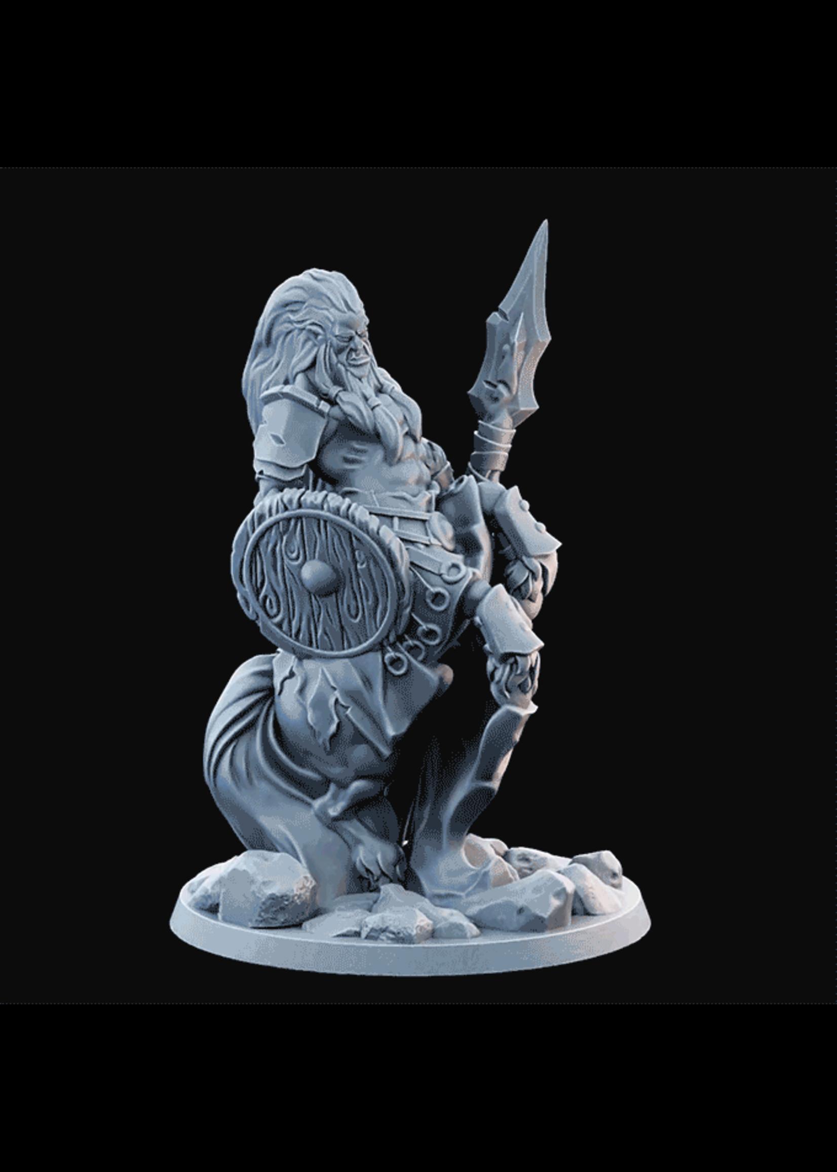 3D Printed Miniature - Centaur 03 Spear  - Dungeons & Dragons - Desolate Plains KS