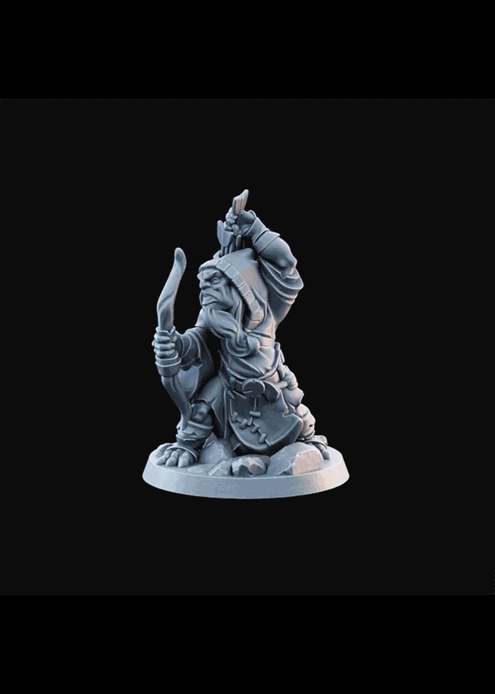 3D Printed Miniature - Goblin03  - Dungeons & Dragons - Desolate Plains KS