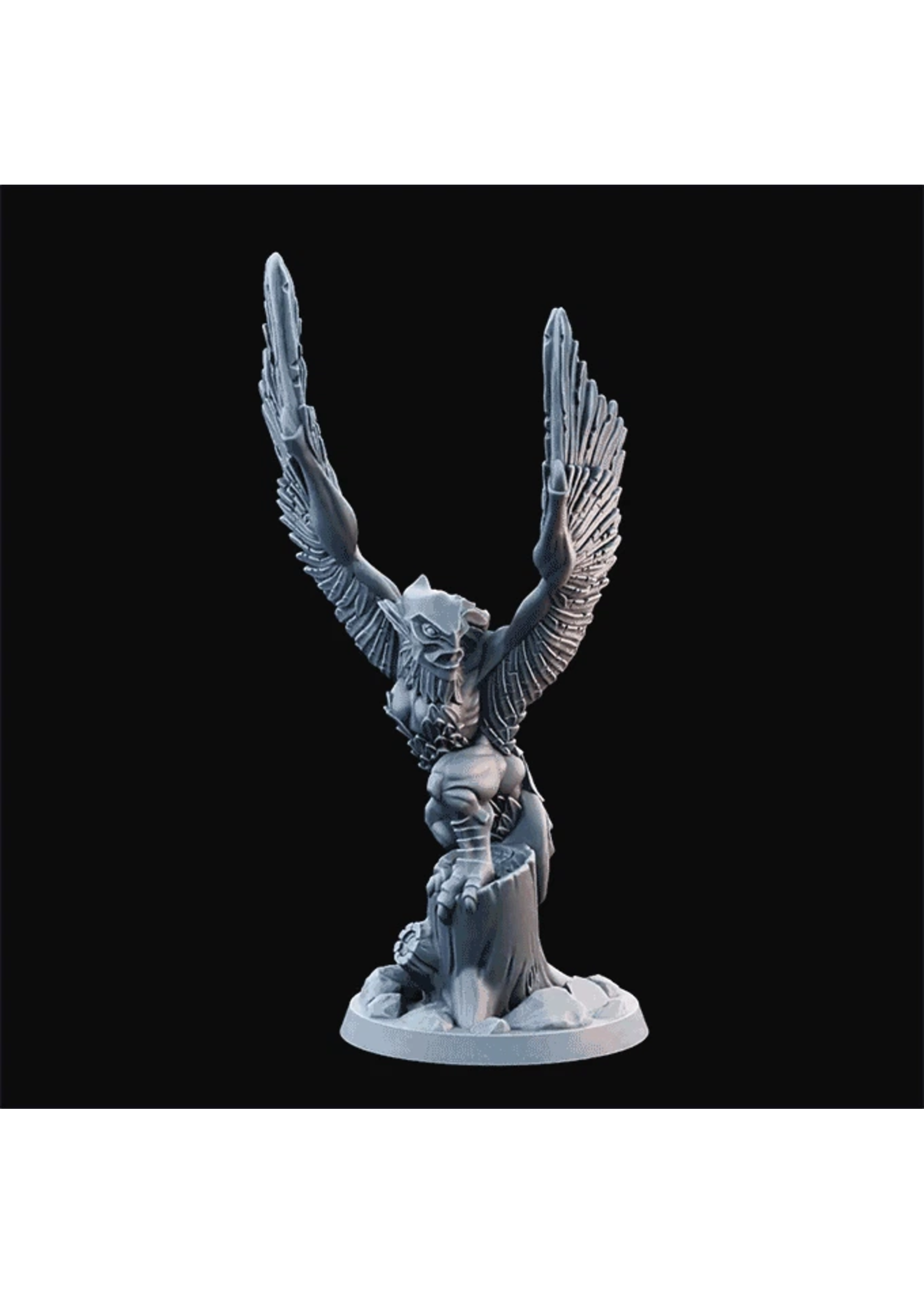 3D Printed Miniature - Harpy02  - Dungeons & Dragons - Desolate Plains KS