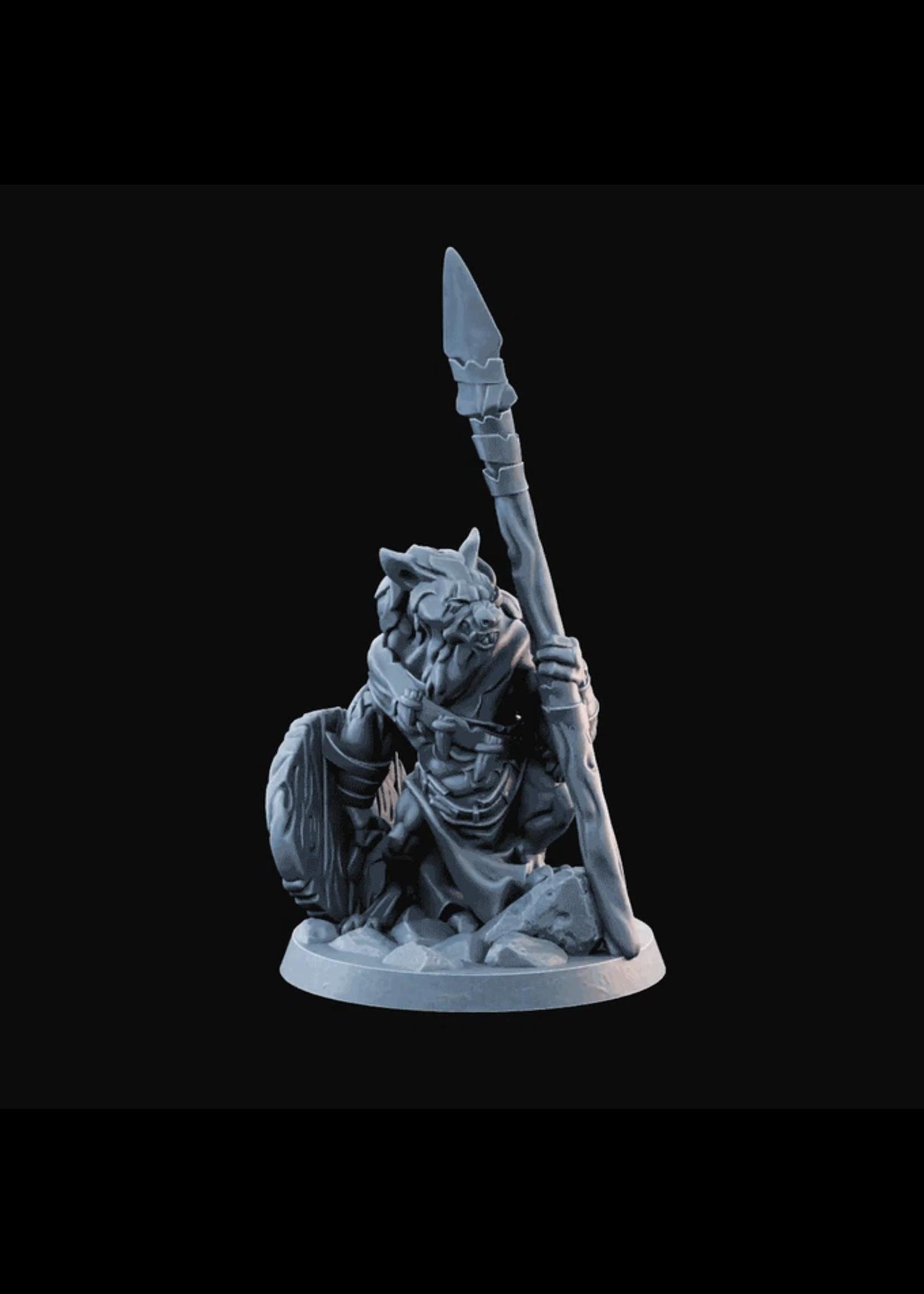 3D Printed Miniature - Hyenaman04  - Dungeons & Dragons - Desolate Plains KS