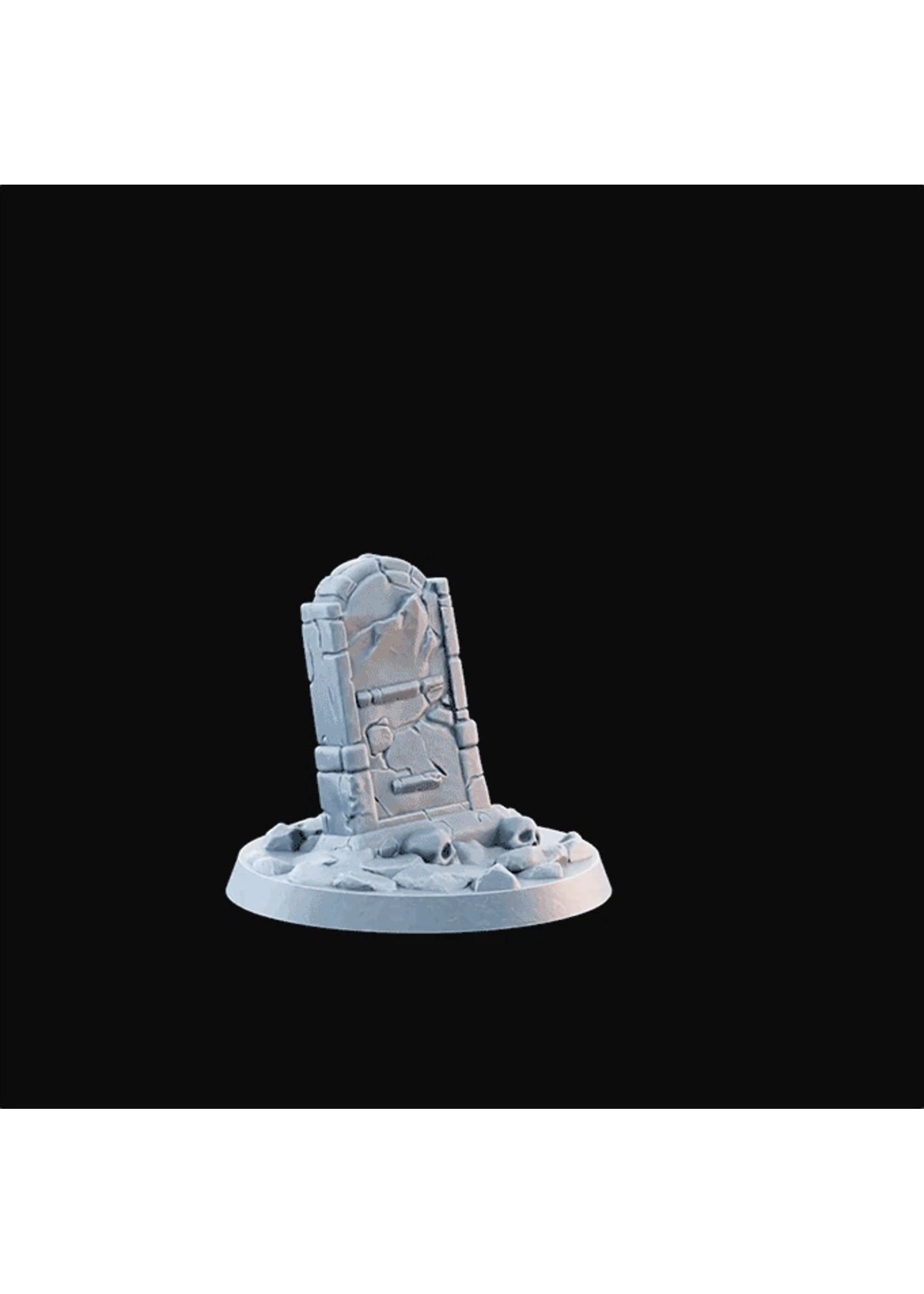 3D Printed Miniature - Scatter Tombstone02.Stl - Dungeons & Dragons - Desolate Plains KS