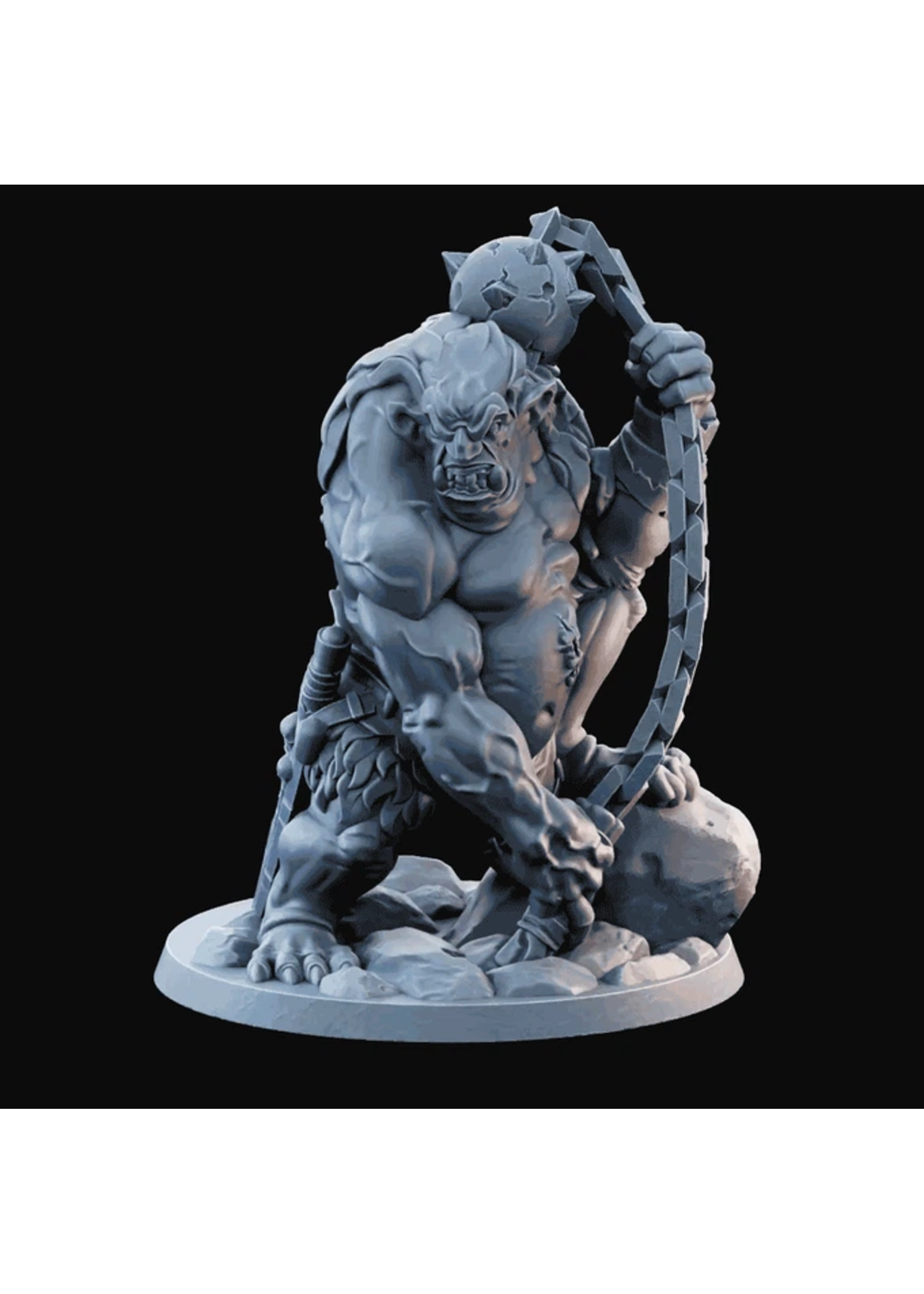 3D Printed Miniature - Troll 04  - Dungeons & Dragons - Desolate Plains KS