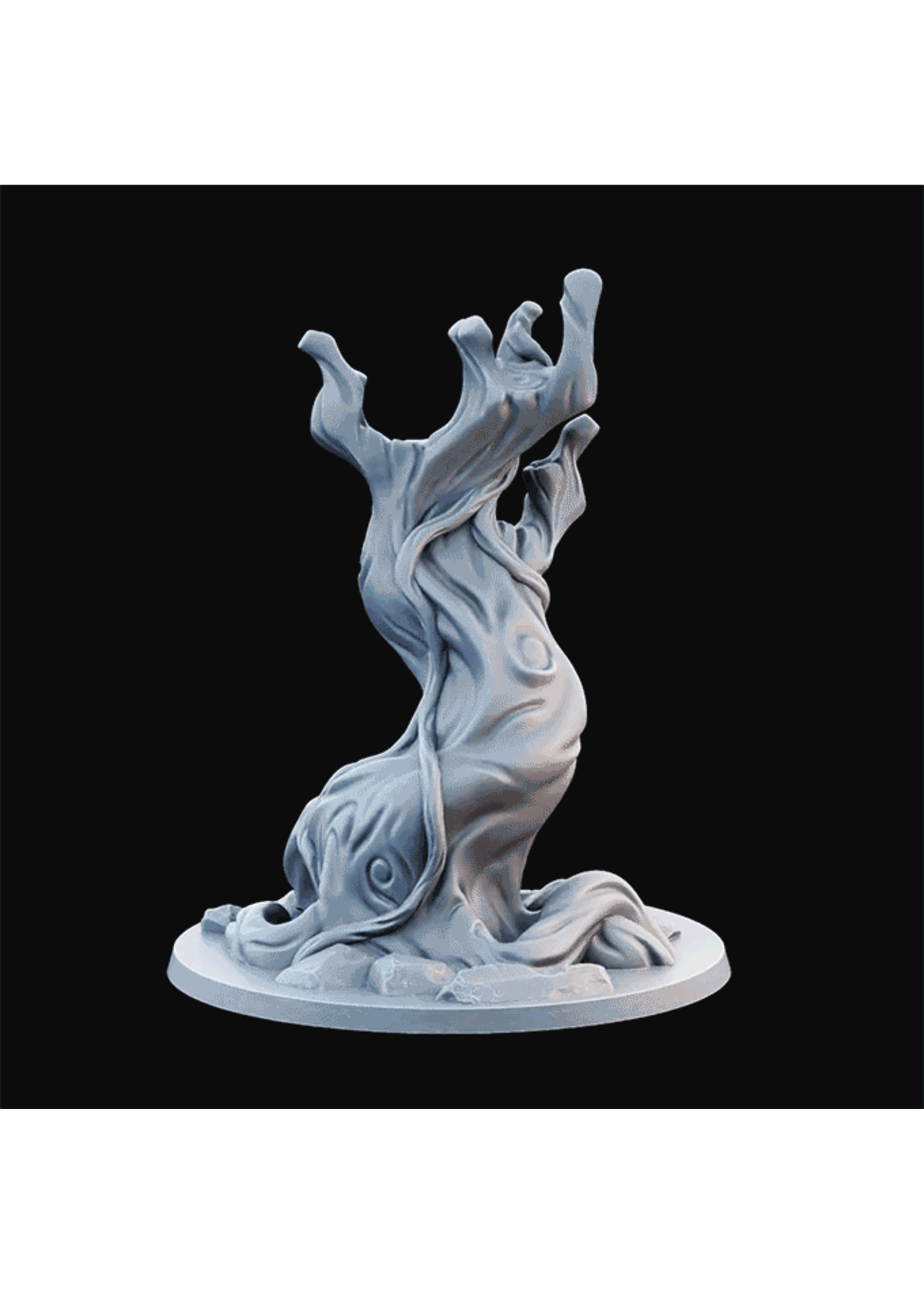 3D Printed Miniature - Tree Curvy.Stl - Dungeons & Dragons - Desolate Plains KS