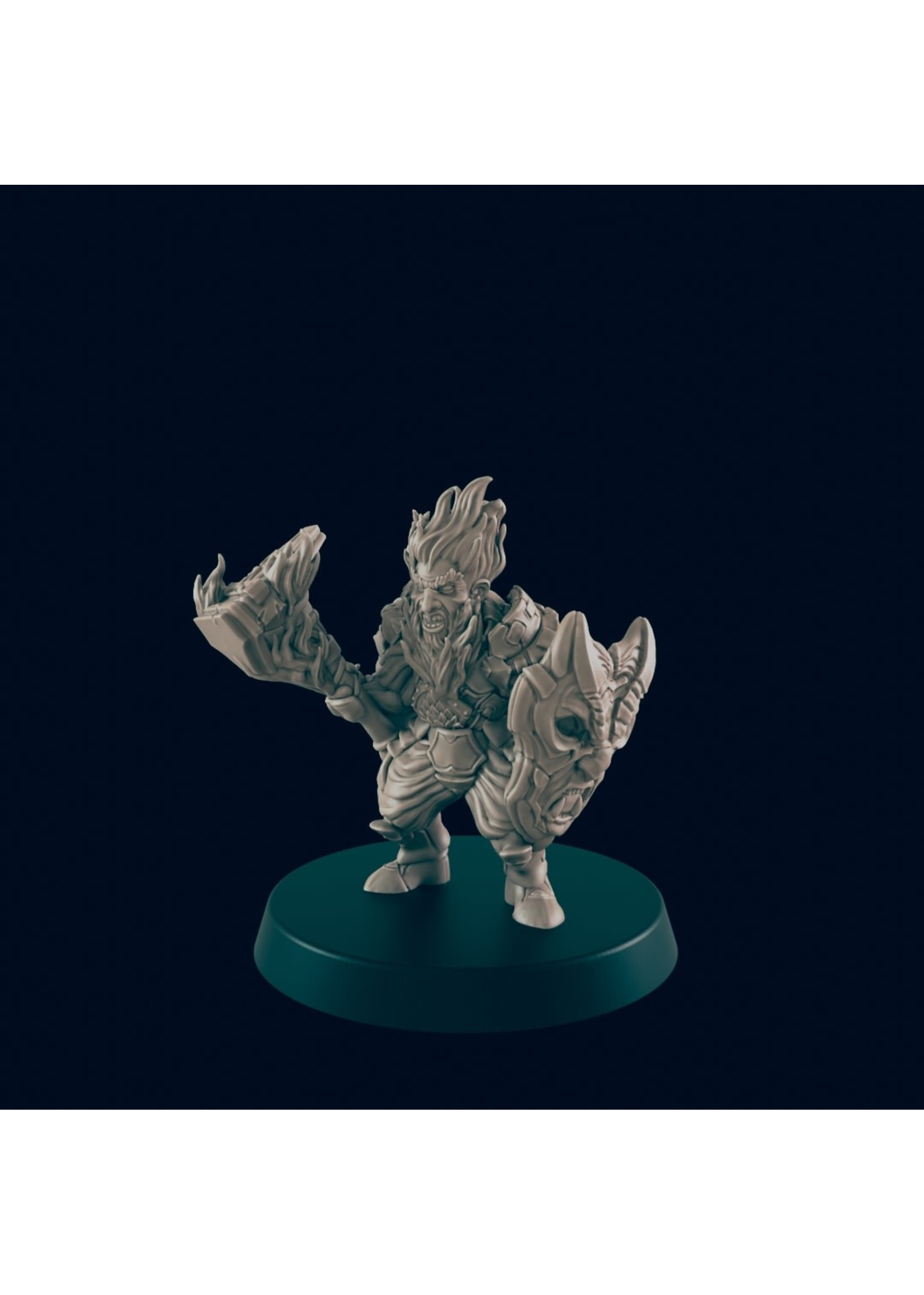 3D Printed Miniature - Azer Male - Dungeons & Dragons - Beasts and Baddies KS