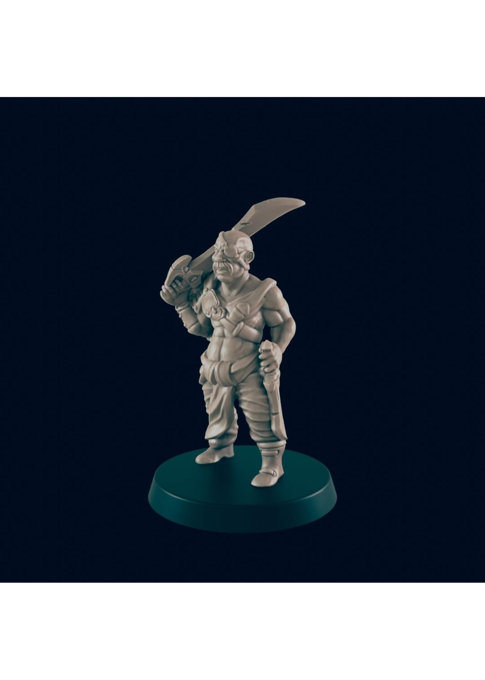 3D Printed Miniature - Human Bandit - Dungeons & Dragons - Beasts and Baddies KS