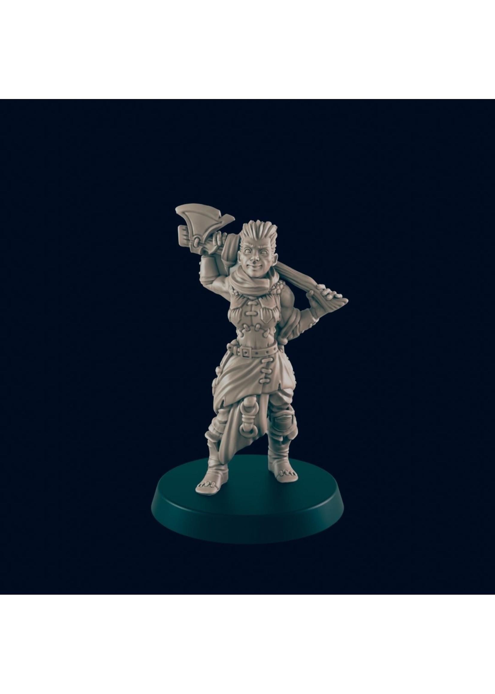 3D Printed Miniature - Half Orc Bandit - Dungeons & Dragons - Beasts and Baddies KS