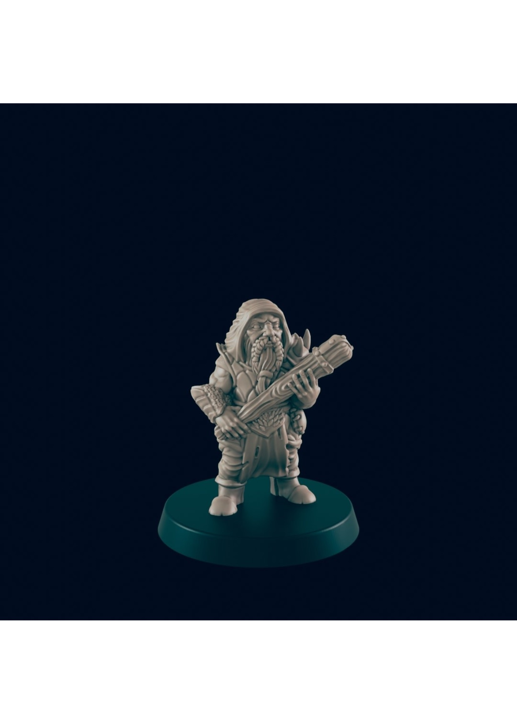 3D Printed Miniature - Dwarf Bandit - Dungeons & Dragons - Beasts and Baddies KS