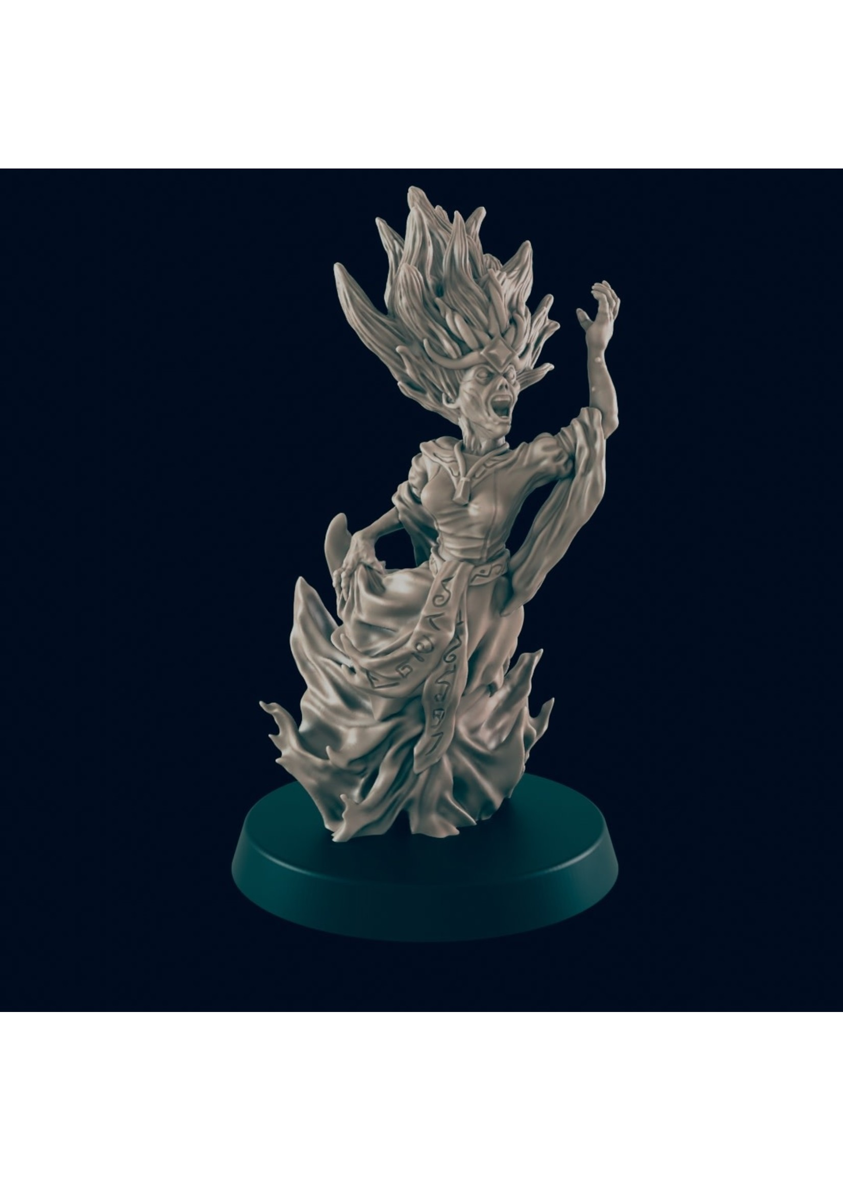 3D Printed Miniature - Banshee - Dungeons & Dragons - Beasts and Baddies KS