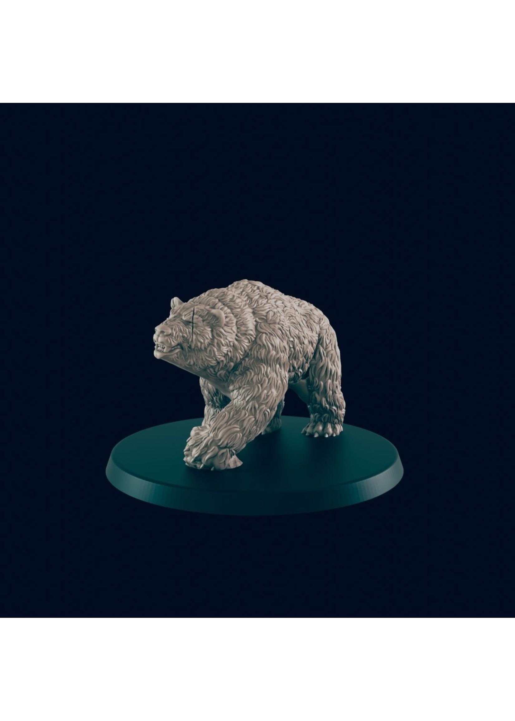3D Printed Miniature - Bear - Dungeons & Dragons - Beasts and Baddies KS