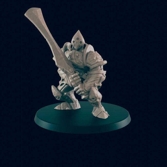 3D Printed Miniature - Metal Golem - Dungeons & Dragons - Beasts and Baddies KS