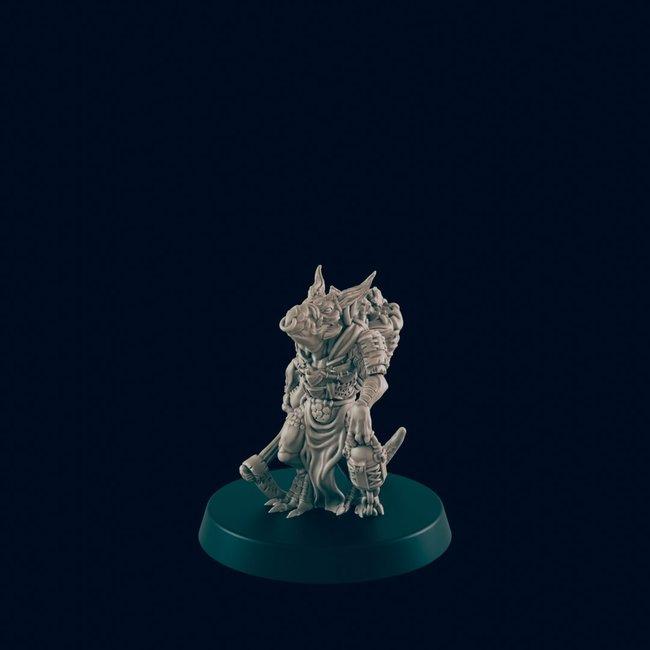 3D Printed Miniature - Kobold 2 - Dungeons & Dragons - Beasts and Baddies KS