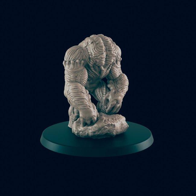 3D Printed Miniature - Brain Golem - Dungeons & Dragons - Beasts and Baddies KS