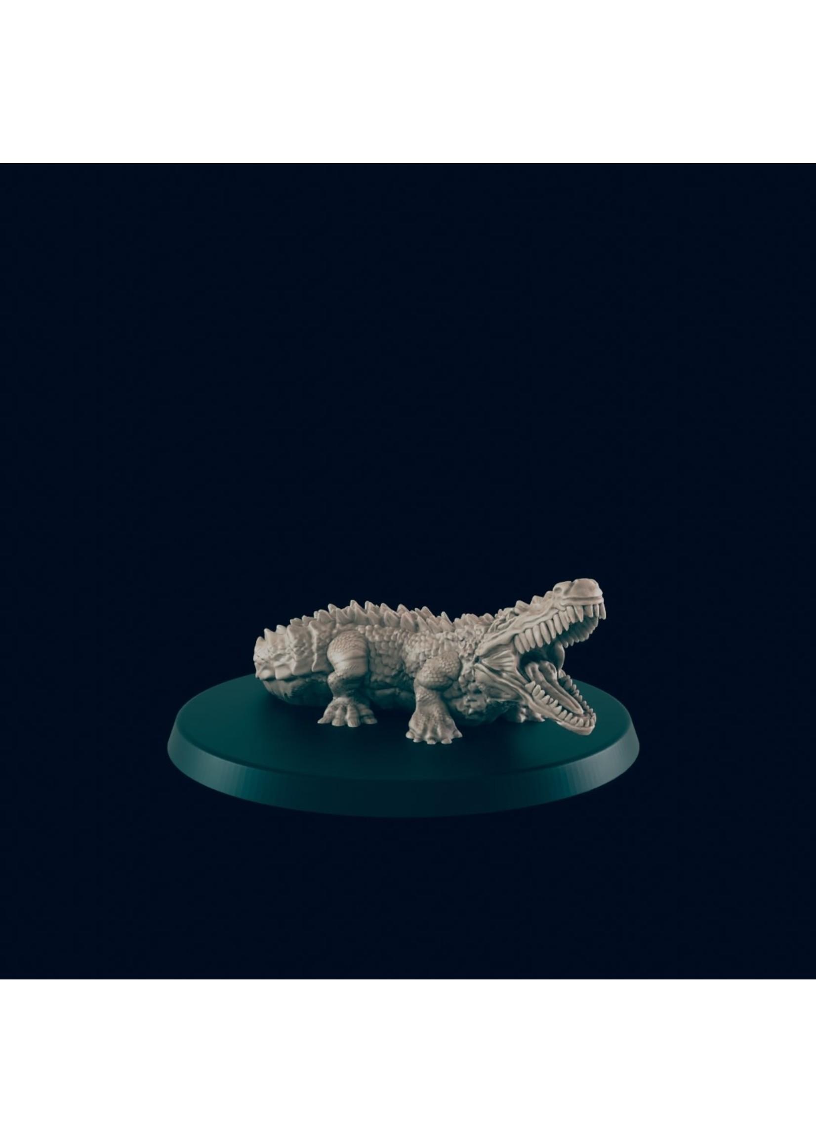 3D Printed Miniature - Crocodile - Dungeons & Dragons - Beasts and Baddies KS