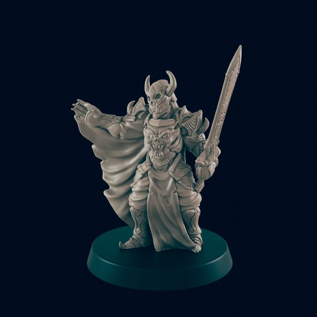 3D Printed Miniature - Death Knight - Dungeons & Dragons - Beasts and Baddies KS