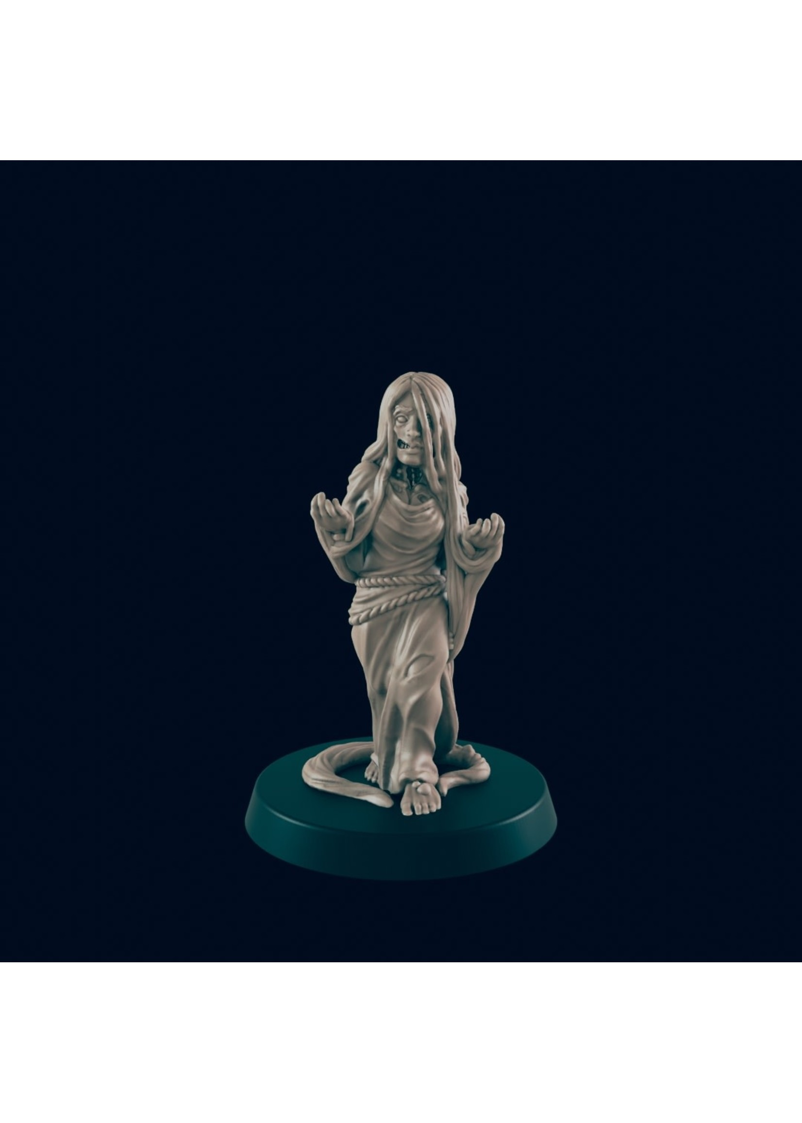 3D Printed Miniature - Drowned Maiden - Dungeons & Dragons - Beasts and Baddies KS