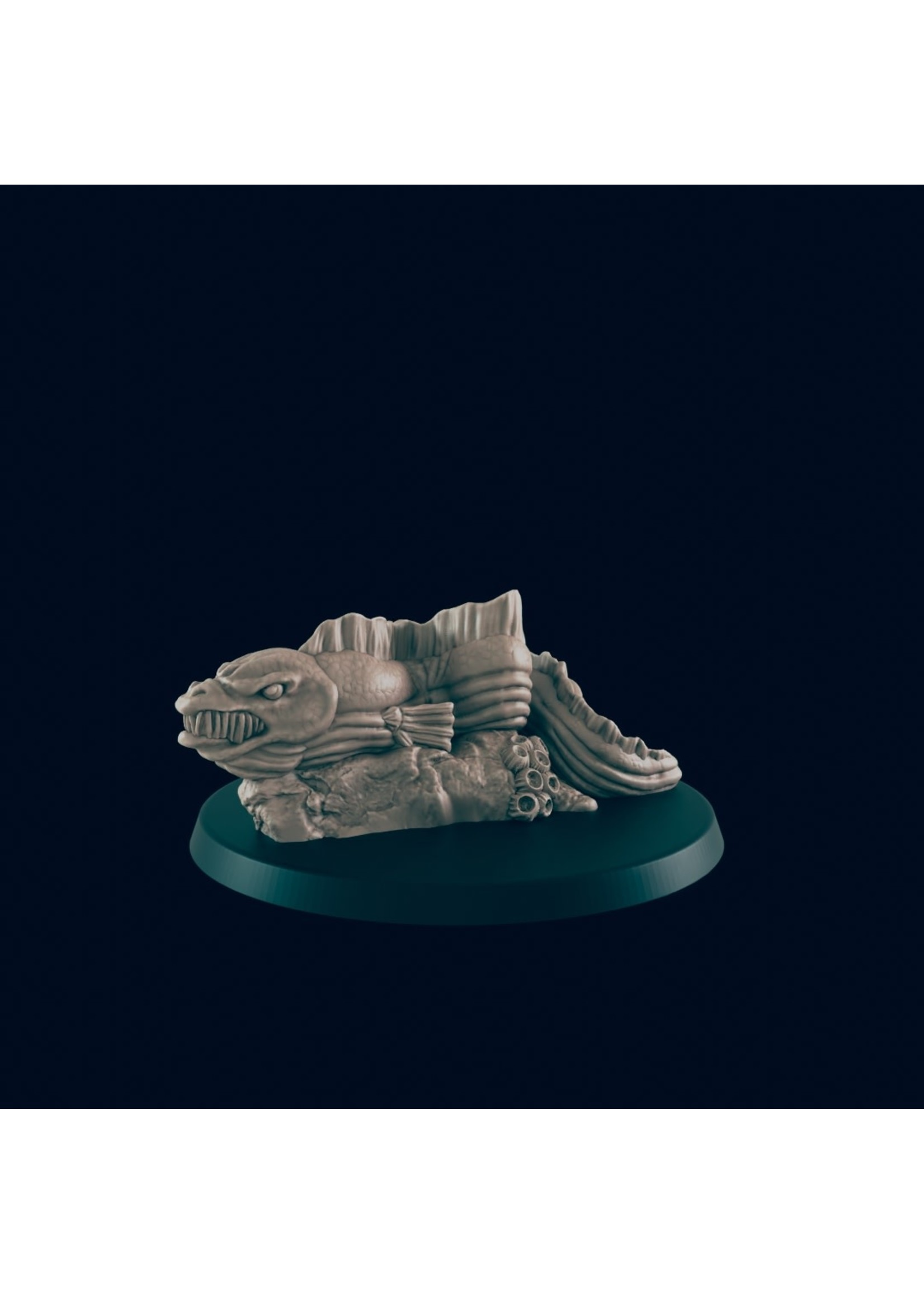 3D Printed Miniature - Giant Eel - Dungeons & Dragons - Beasts and Baddies KS