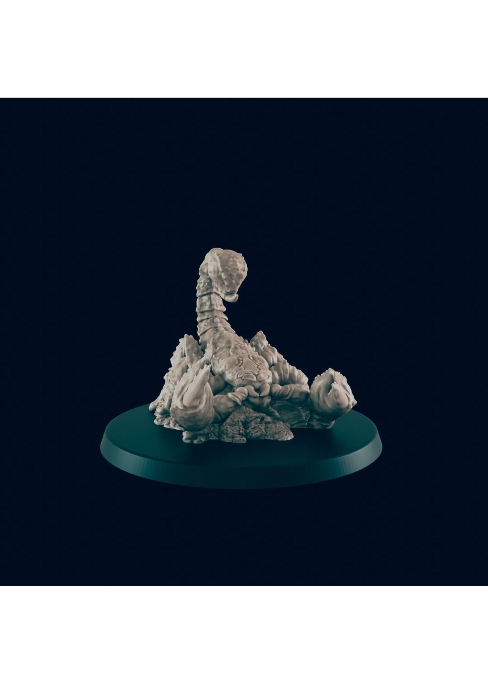 3D Printed Miniature - Giant Scorpion - Dungeons & Dragons - Beasts and Baddies KS