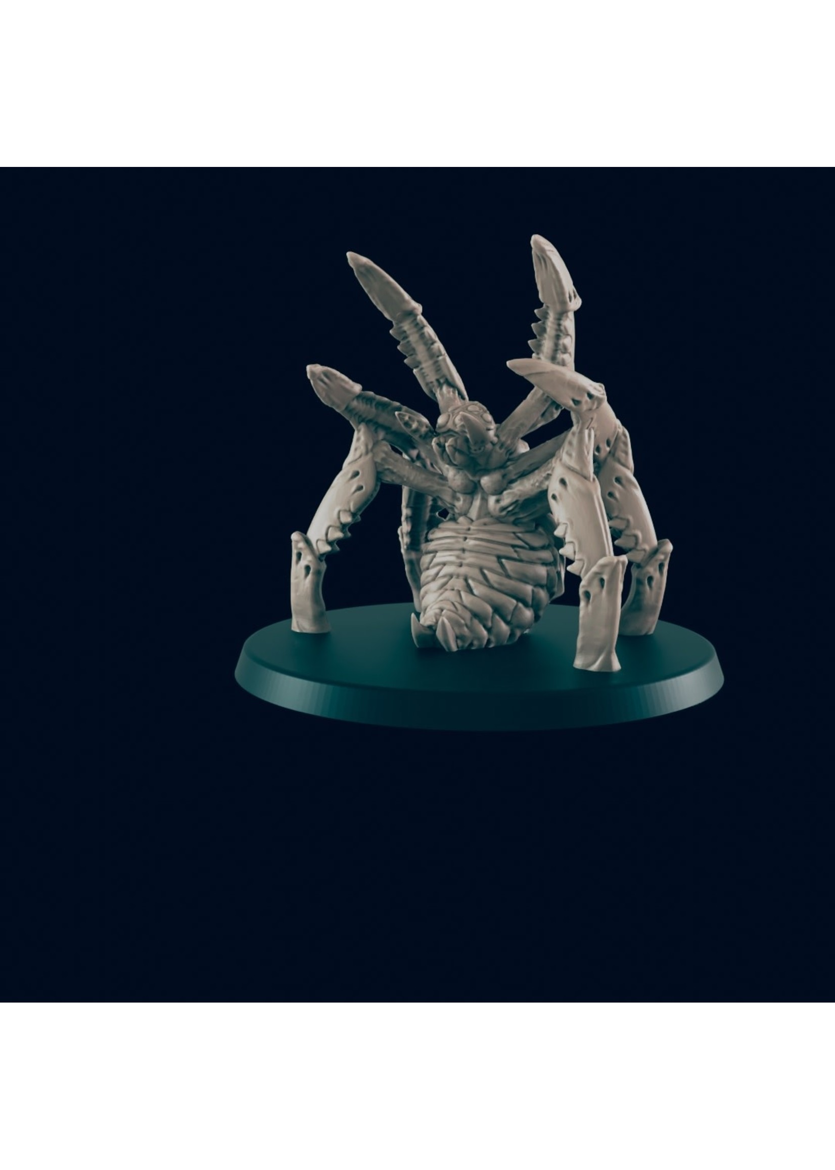 3D Printed Miniature - Giant Spider - Dungeons & Dragons - Beasts and Baddies KS
