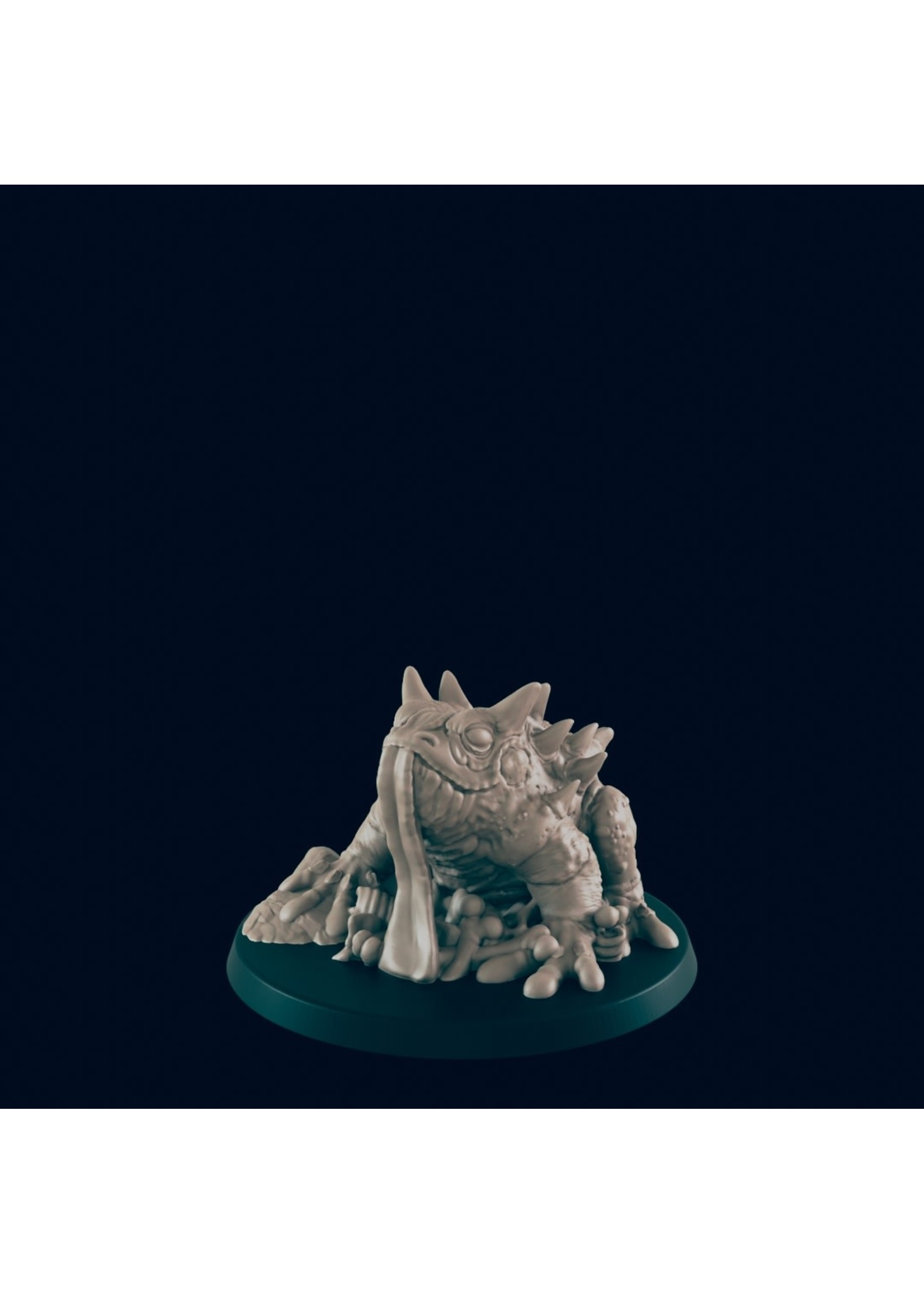 3D Printed Miniature - Giant Toad - Dungeons & Dragons - Beasts and Baddies KS