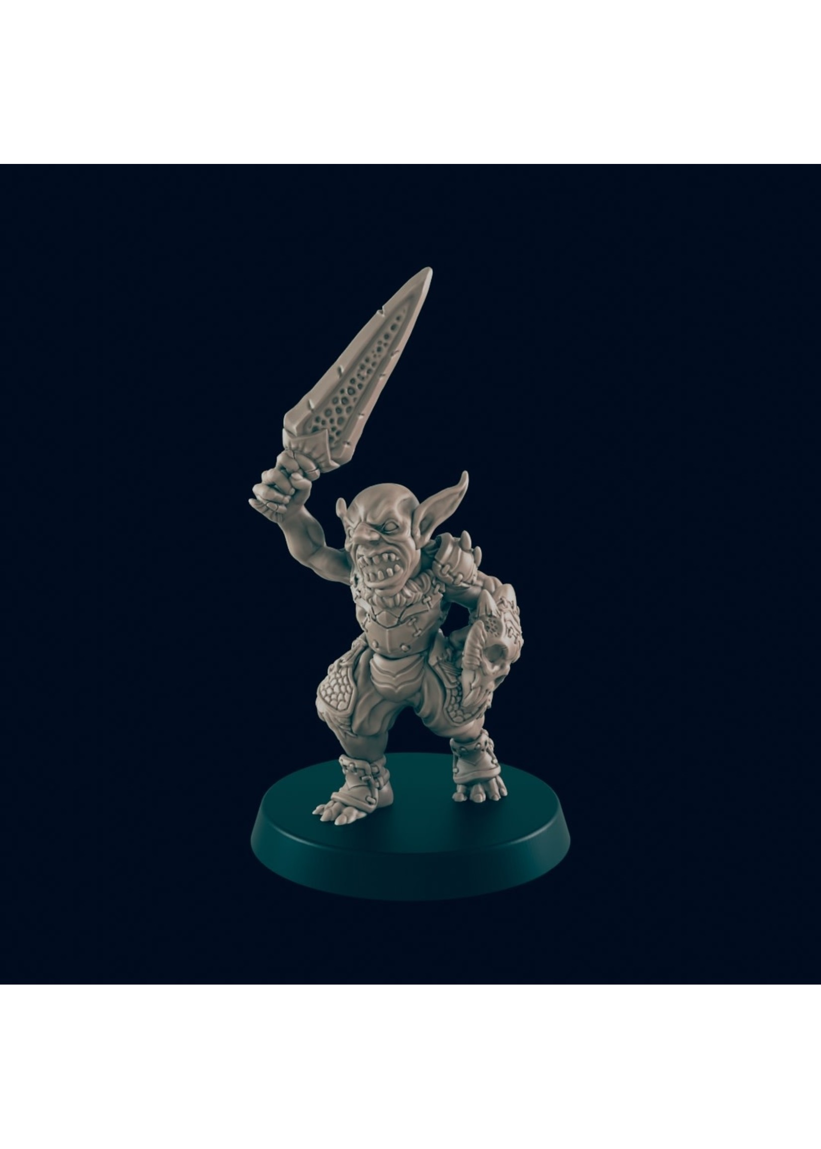 3D Printed Miniature - Goblin Warrior 2 - Dungeons & Dragons - Beasts and Baddies KS