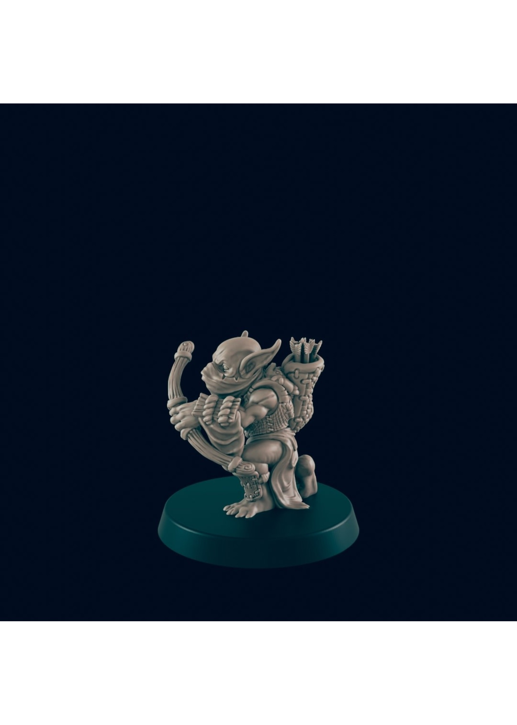 3D Printed Miniature - Goblin Archer - Dungeons & Dragons - Beasts and Baddies KS