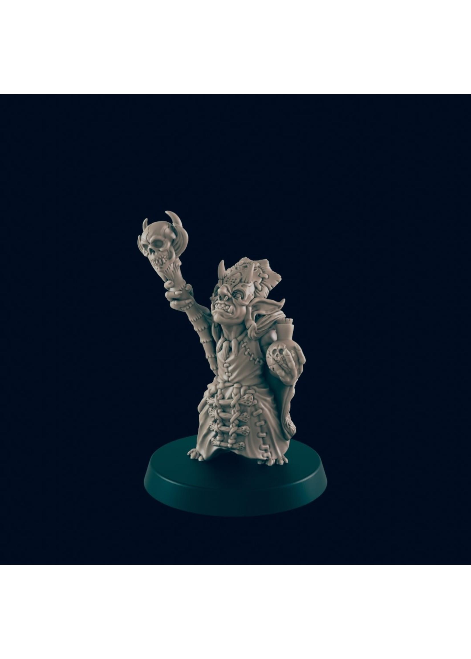 3D Printed Miniature - Goblin Shaman - Dungeons & Dragons - Beasts and Baddies KS